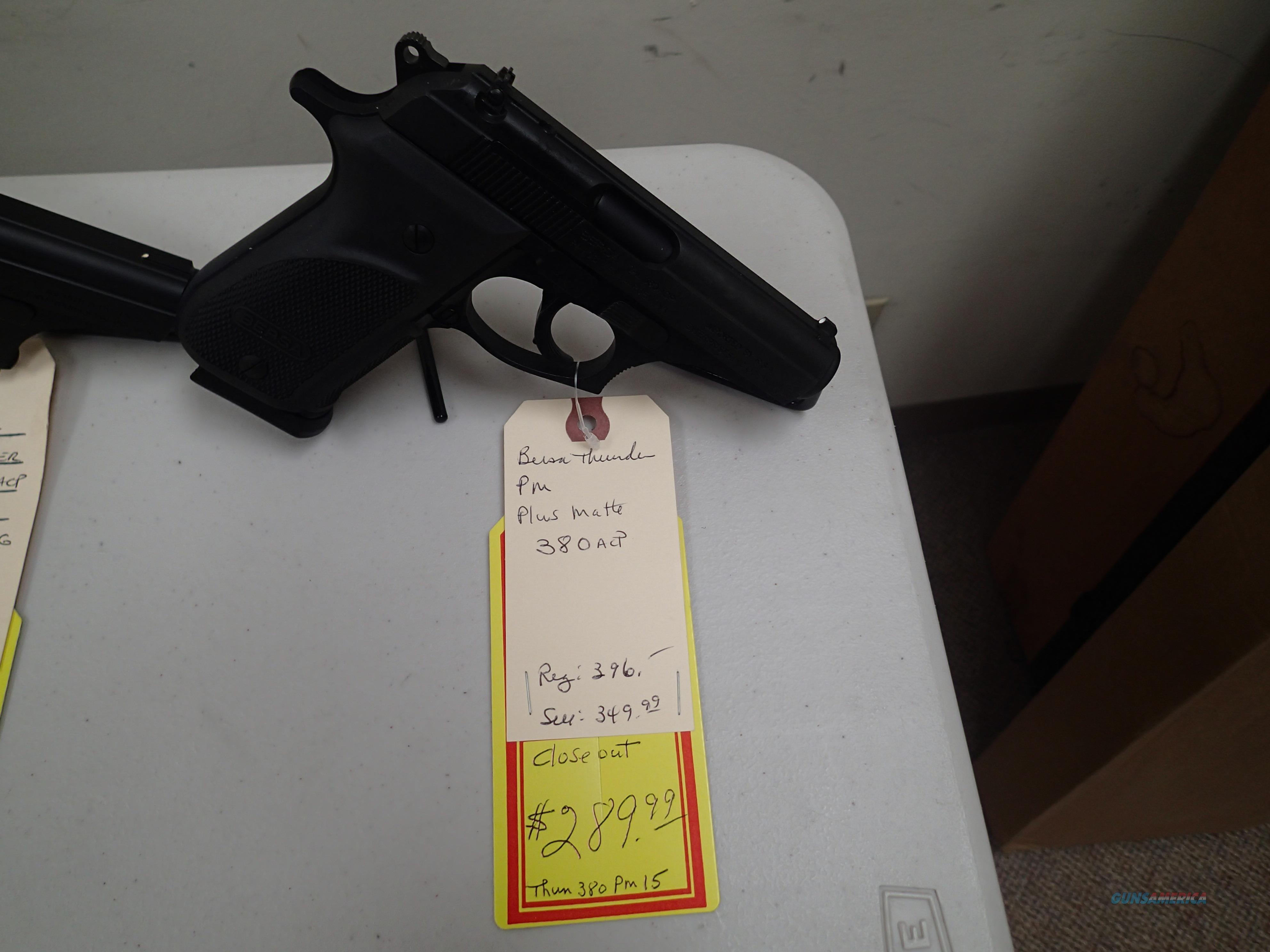 Bersa PM Plus Matte 380acp 1-15rd magazine NIB closeout prices (90385)  Guns > Pistols > Bersa Pistols