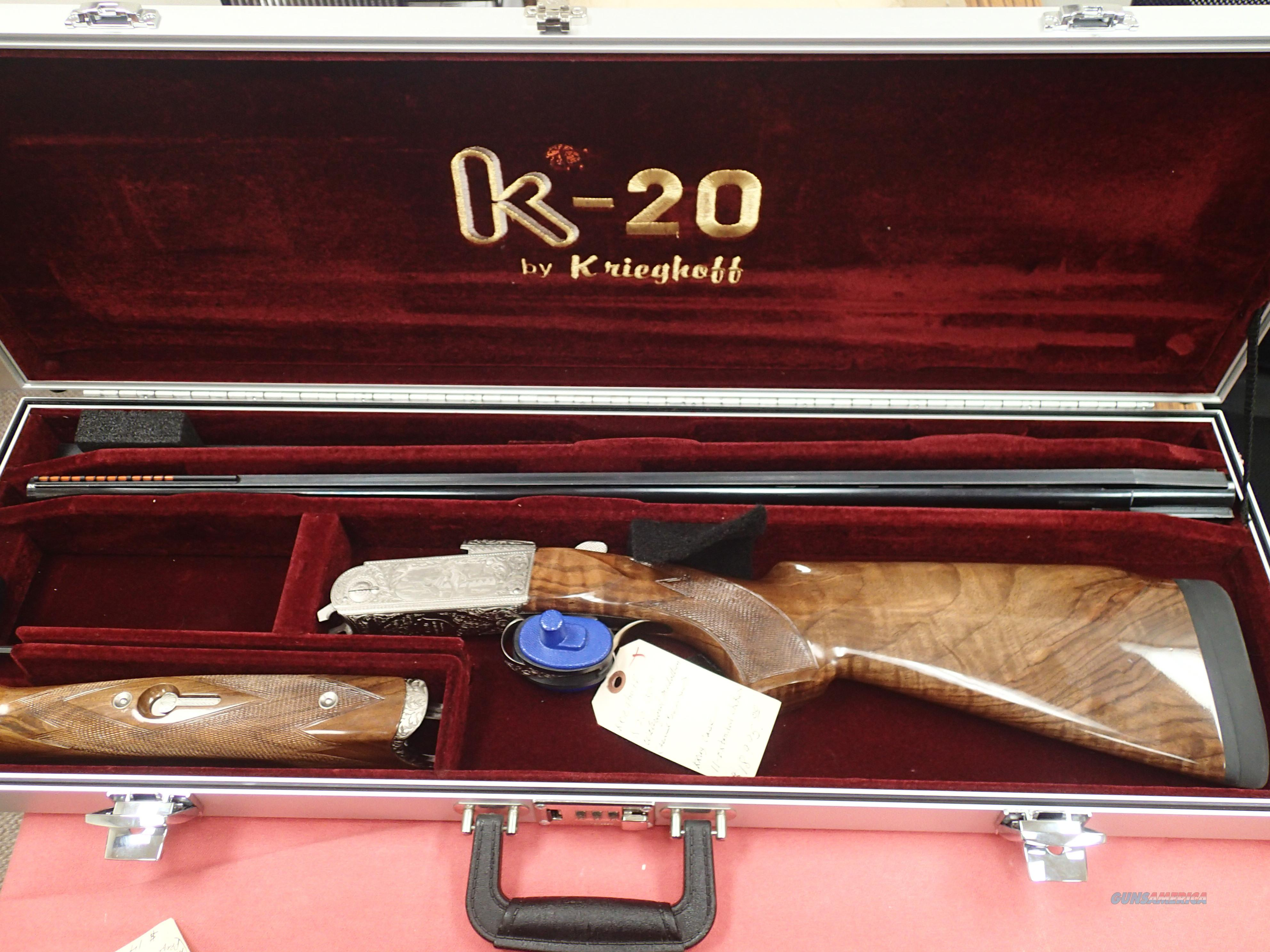 Krieghoff K-20  Sporting Highly Engraved Waterfowl Medallion Edition, Cased minty  Guns > Shotguns > Krieghoff Shotguns