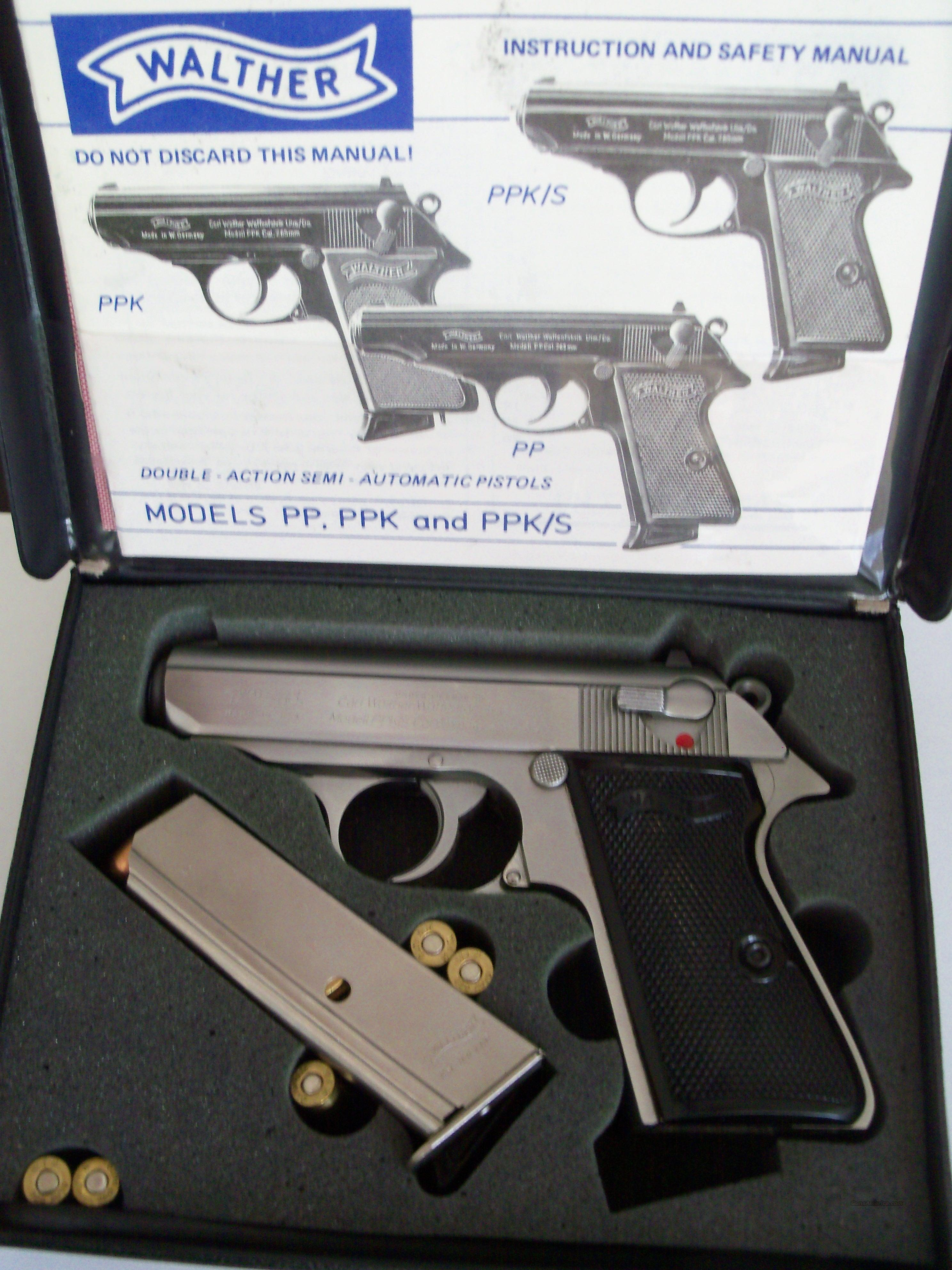 MINT EARLY CARL WALTHER PPK/S 380 ACP 9MM SHORT       INTERARMS 9 MM KURZ PP PPK JAMES BOND 9MM  Guns > Pistols > Walther Pistols > Post WWII > PPK Series
