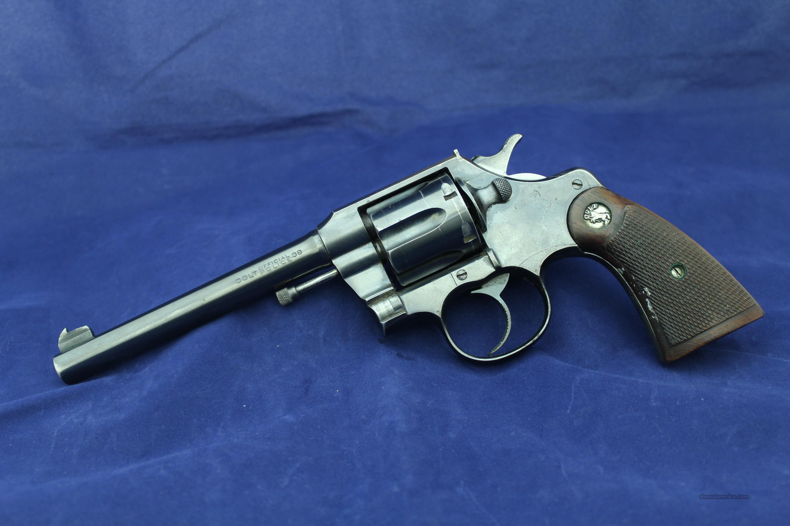 Colt Official Police .38 Special (MFG 1950)  Guns > Pistols > Colt Double Action Revolvers- Modern
