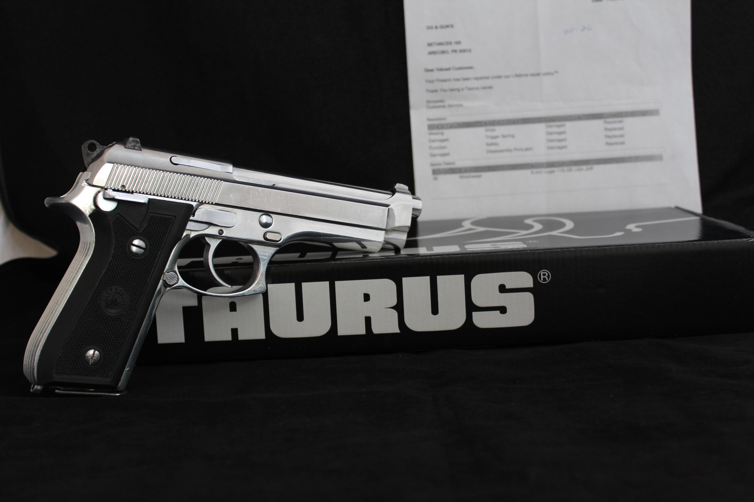 Taurus PT92 (Factory Refurbished W/ New Parts)  Guns > Pistols > Taurus Pistols/Revolvers > Pistols > Steel Frame