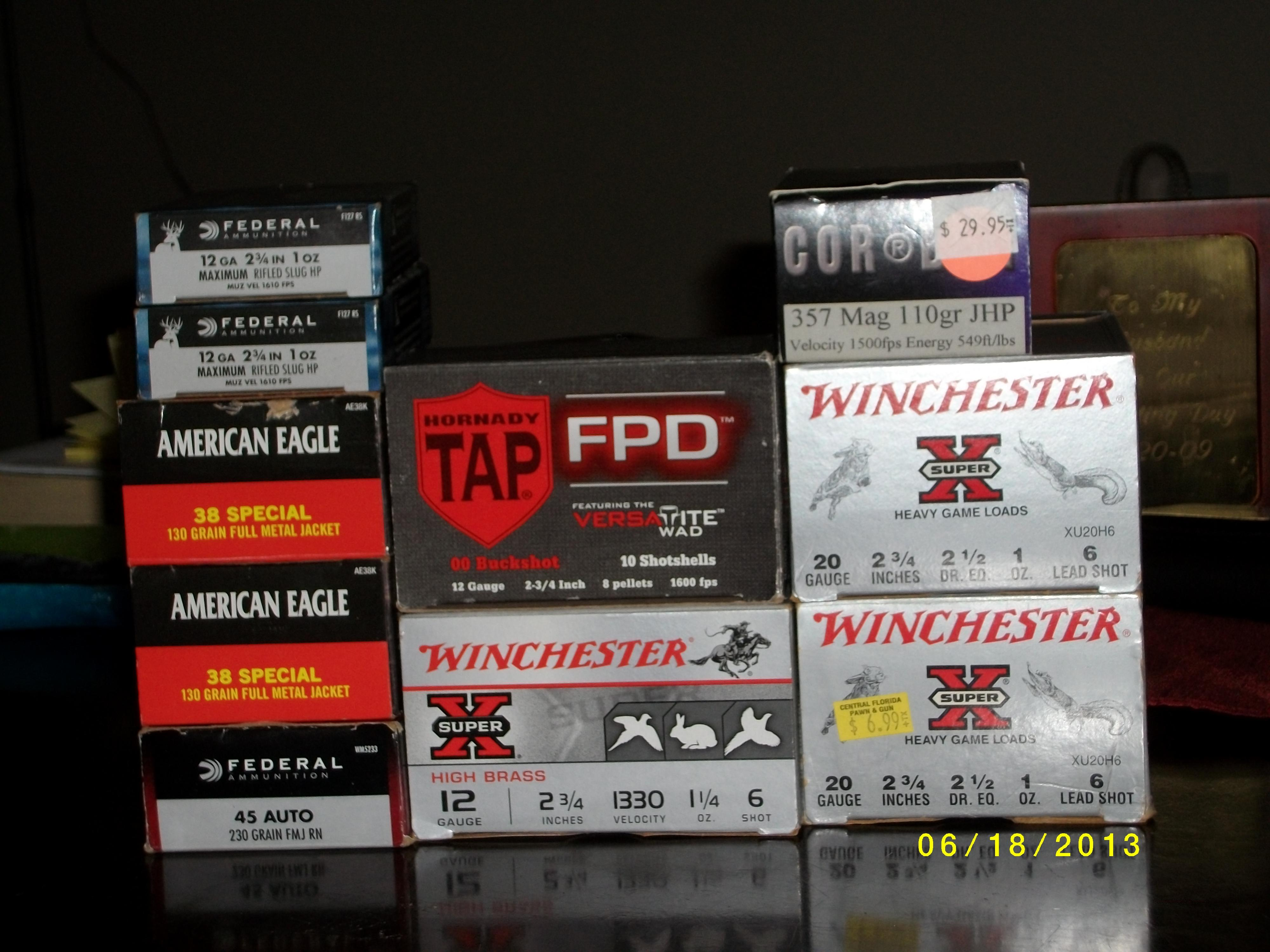 Variety of new ammunition  Non-Guns > Ammunition
