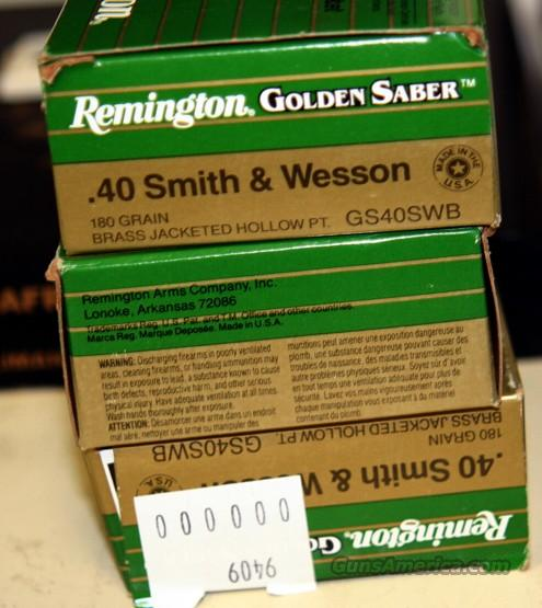 .40 cal S&W Remington Golden Saber ammo  Non-Guns > Ammunition
