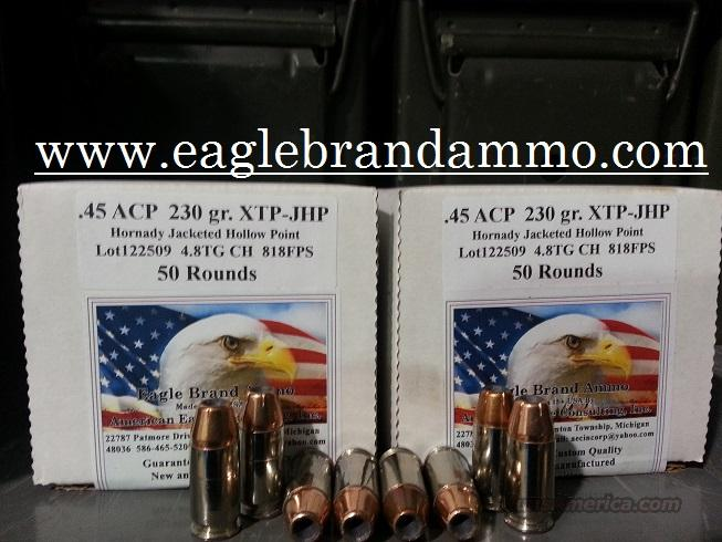 45 XTP 230 gr Hollow Points 100 Rounds 45 XTP 230gr 45 hollow points  Non-Guns > Ammunition