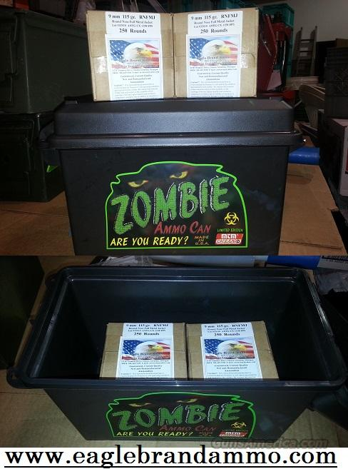 9mm 115 gr JRN 500 with Zombie Ammo Can Rounds 9mm 115gr  Non-Guns > Ammunition