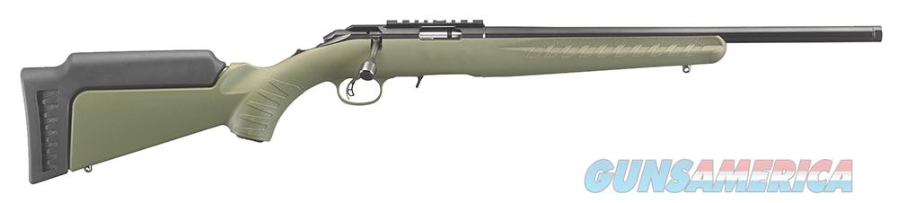 "Ruger 8335 American Rimfire Standard Bolt 22 WMR 18"" 9+1 Synthetic OD Green Stk Blued  Guns > Rifles > Ruger Rifles > American"