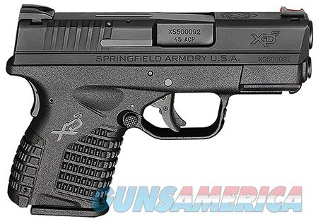 "Springfield XDS93345BE XD-S Essential 45 ACP DAO 3.3"" 5+1 Poly Grip/Frame Black  Guns > Pistols > Springfield Armory Pistols > XD-S"