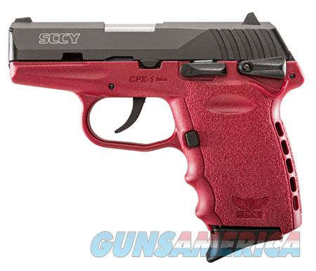 "SCCY Industries CPX1CBCR CPX-1 Double 9mm 3.1"" 10+1 Crimson Polymer Grip/Frame Grip Black Nitride Stainless Steel  Guns > Pistols > SCCY Pistols > CPX1"