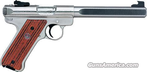 "Ruger 10112 Mark III Competition 22LR 6.87"" 10+1 Cocobolo w/Thumbrest Grip SS  Guns > Pistols > Ruger Semi-Auto Pistols > Mark I & II Family"