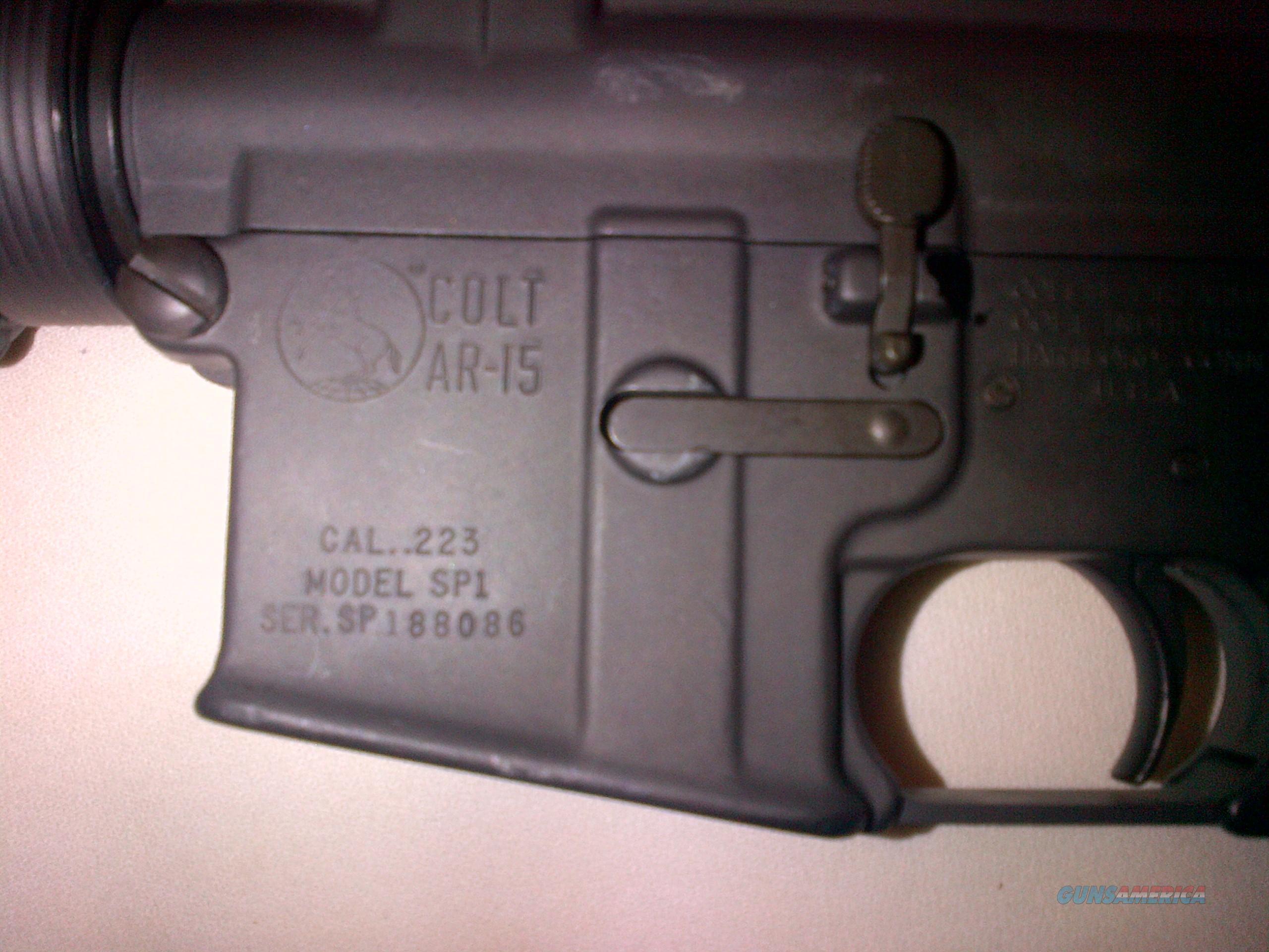 Original Colt SP-1AR-15  Guns > Rifles > Colt Military/Tactical Rifles