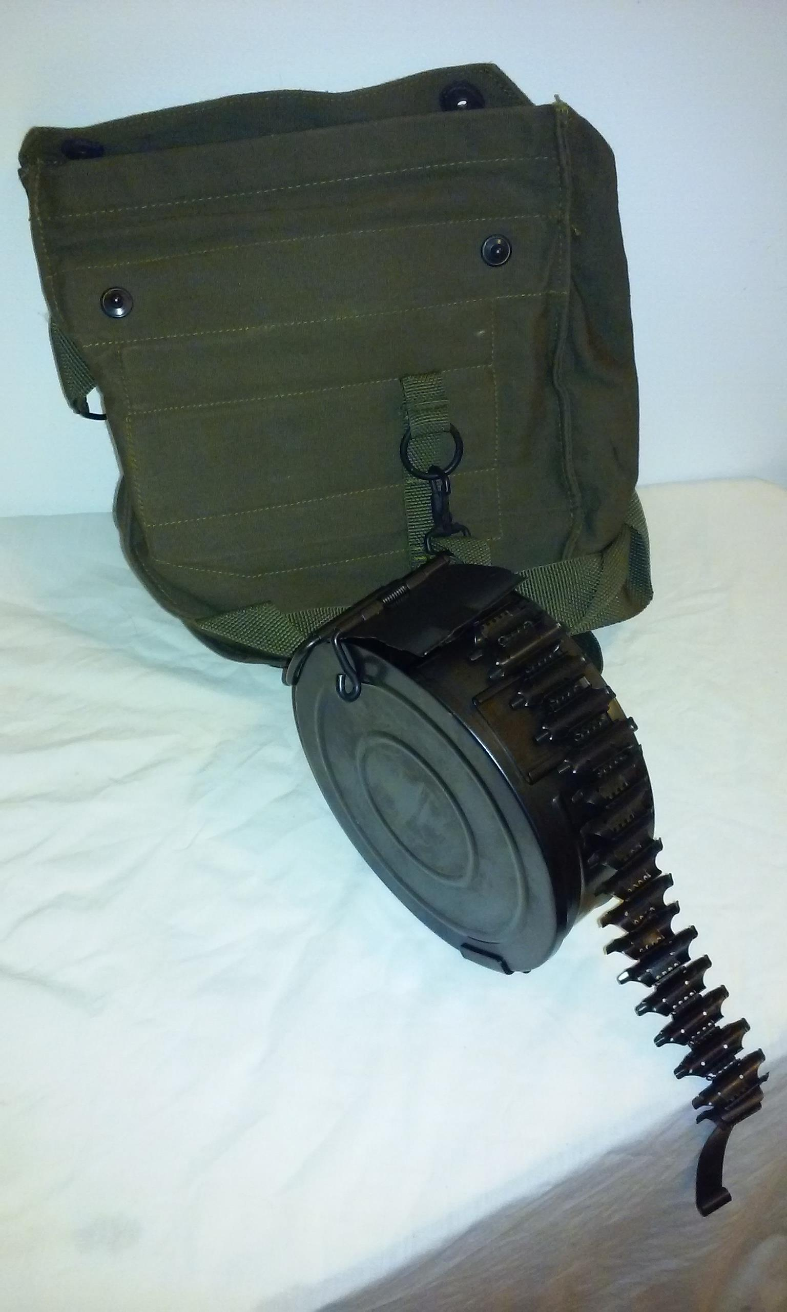 Russian RPD 7.62x39 100 rd. drum w/ links.  NEW !  Non-Guns > Magazines & Clips > Rifle Magazines > AK Family
