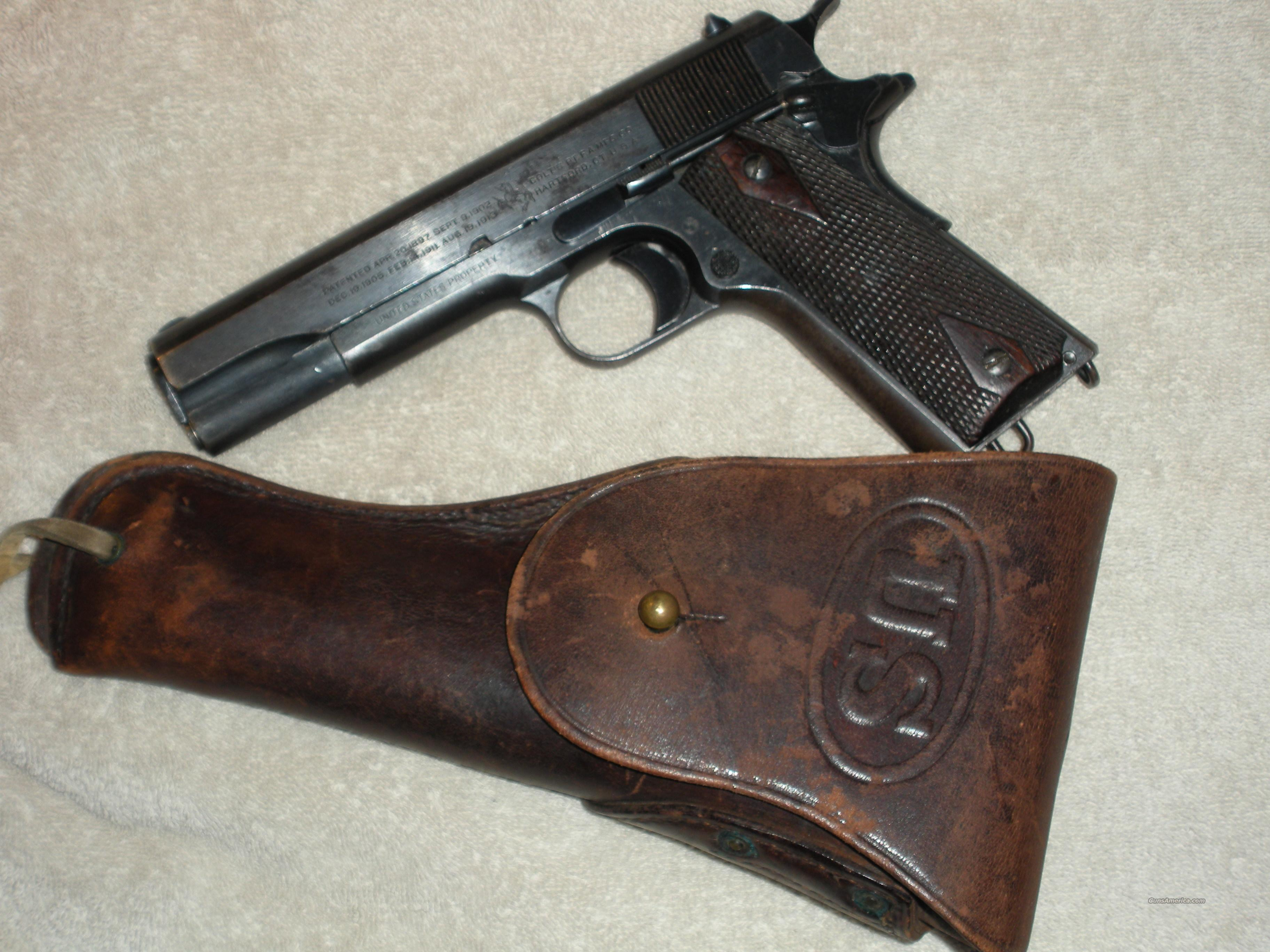 Colt 1911 Military 45 Cal. (Manufactured in 1918)  Guns > Pistols > Colt Automatic Pistols (1911 & Var)