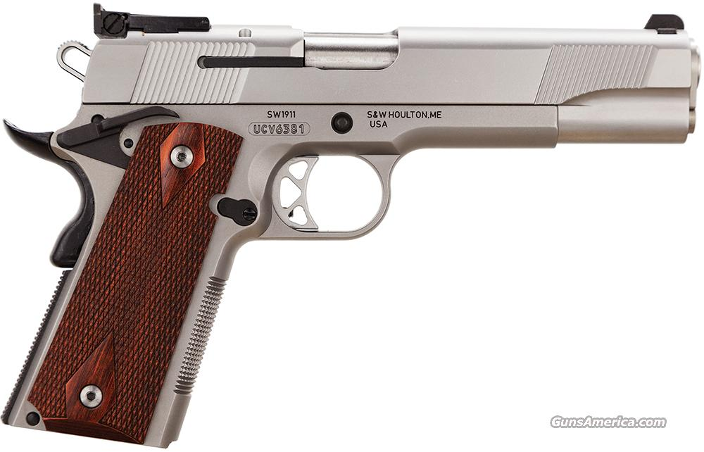 "SMITH & WESSON 108284 1911 45 ACP 5"" 8+1 Ambi Safety Wood Grips Matte SS NEW IN BOX  Guns > Pistols > Smith & Wesson Pistols - Autos > Steel Frame"