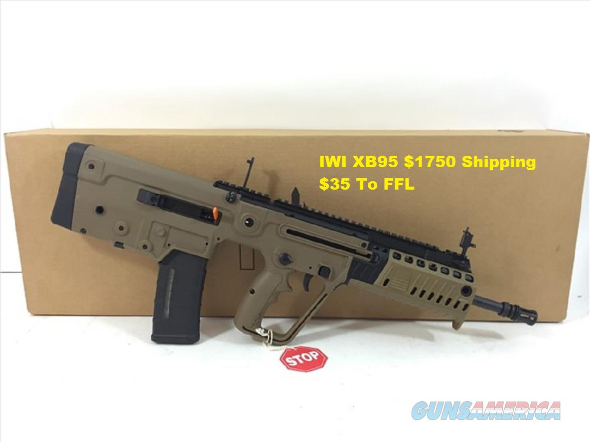 IWI US - TAVOR XB95 16.5IN 5.56X45MM NATO FDE 30+1RD  Guns > Rifles > IWI