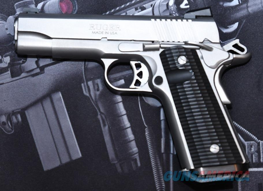 RUGER SR1911 WITH CUSTOM GRIPS NIGHT SIGHTS AND HOLSTER  Guns > Pistols > 1911 Pistol Copies (non-Colt)