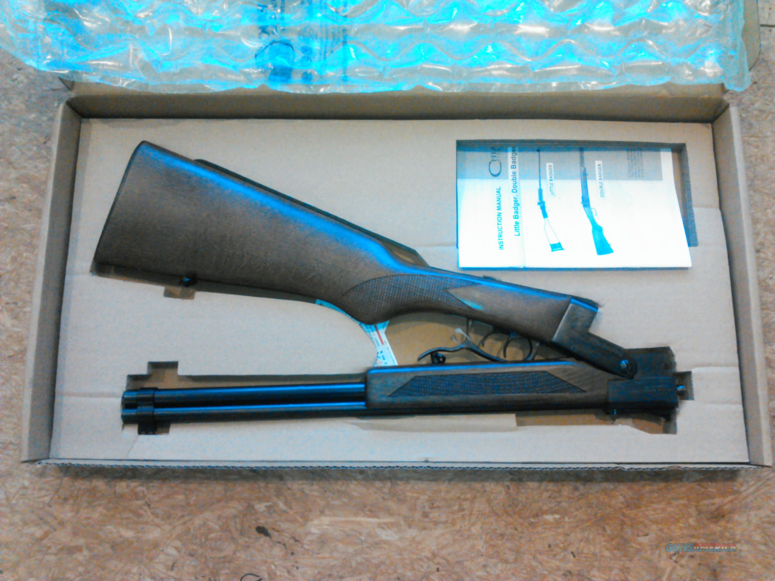 "CHIAPPA DOUBLE BADGER O/U  22LR/410GA  19""BL  NIB, FREE SHIPPING NO CC FEE  Guns > Rifles > Chiappa / Armi Sport Rifles > .22 Cal Rifles"