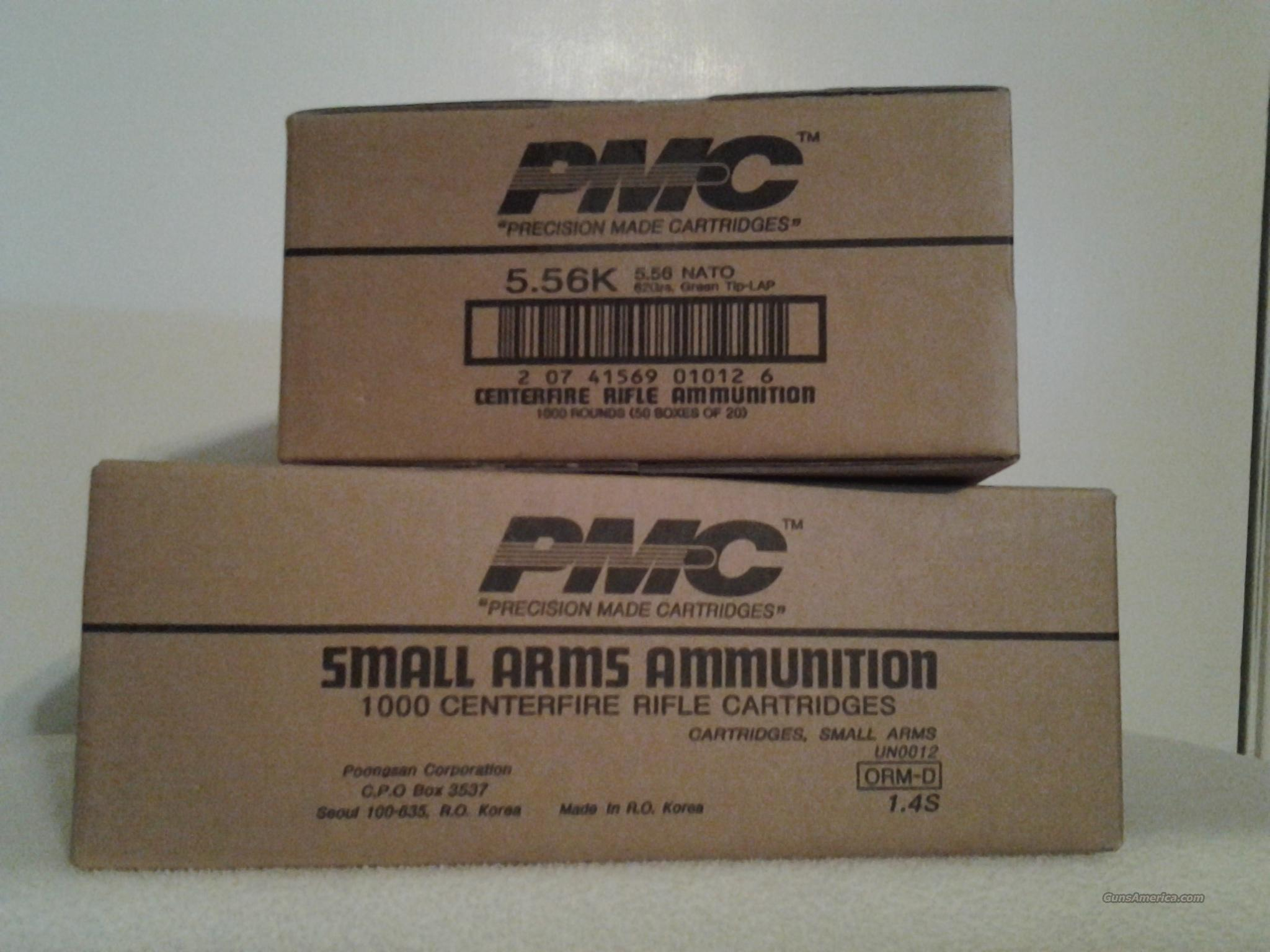 Ammo: .223 PMC 1000 Round Case  62 grain Green LAP 223 Remington 5.56 NATO    Non-Guns > Ammunition