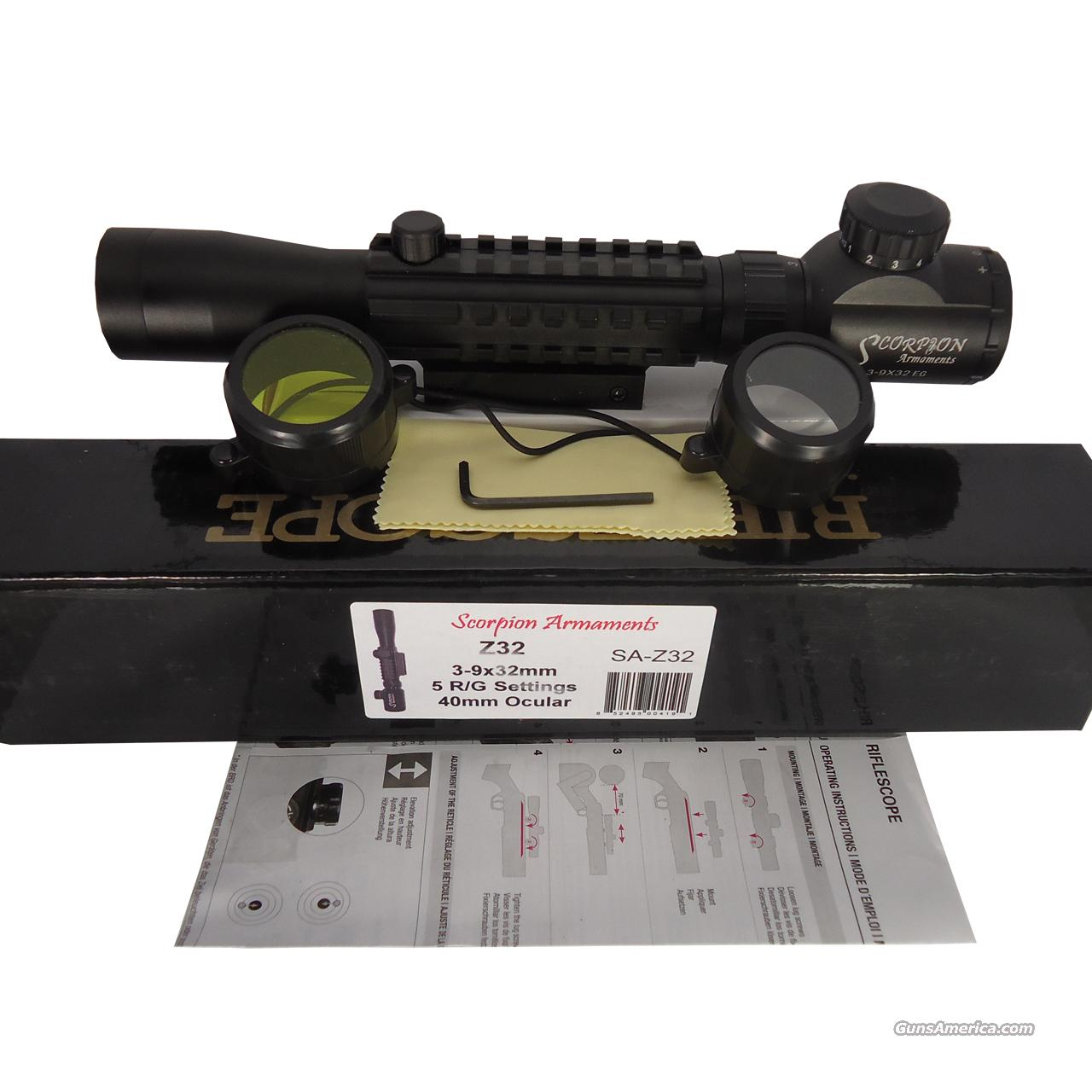 Z32 3-9X32MM RED ILLUMINATED TACTICAL SCOPE Sold By: Clear Value Deals Inc.  Non-Guns > Gun Parts > Rifle/Accuracy/Sniper
