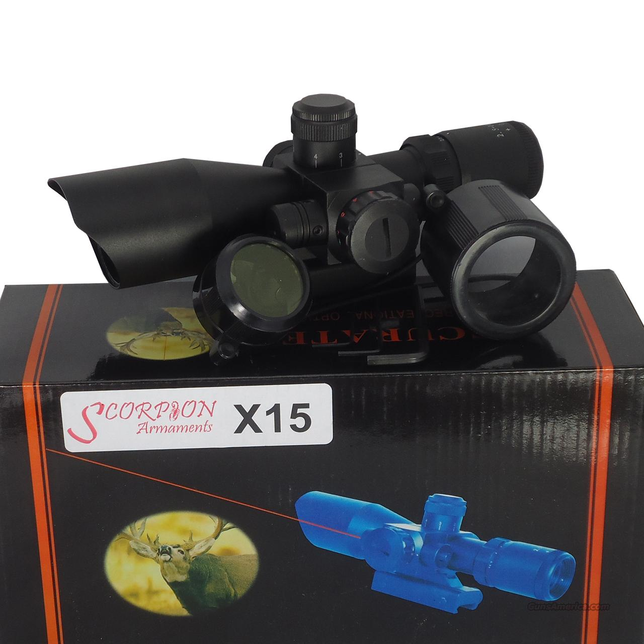 X15 2.5-10X40MM RED/GREEN ILLUMINATED TACTICAL SCOPE & RED LASER Sold By: Clear Value Deals Inc.  Non-Guns > Gun Parts > M16-AR15