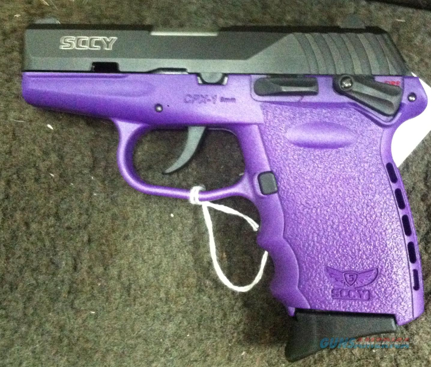 SCCY CPX-1 PURPLE 9MM LUGER CPX1
