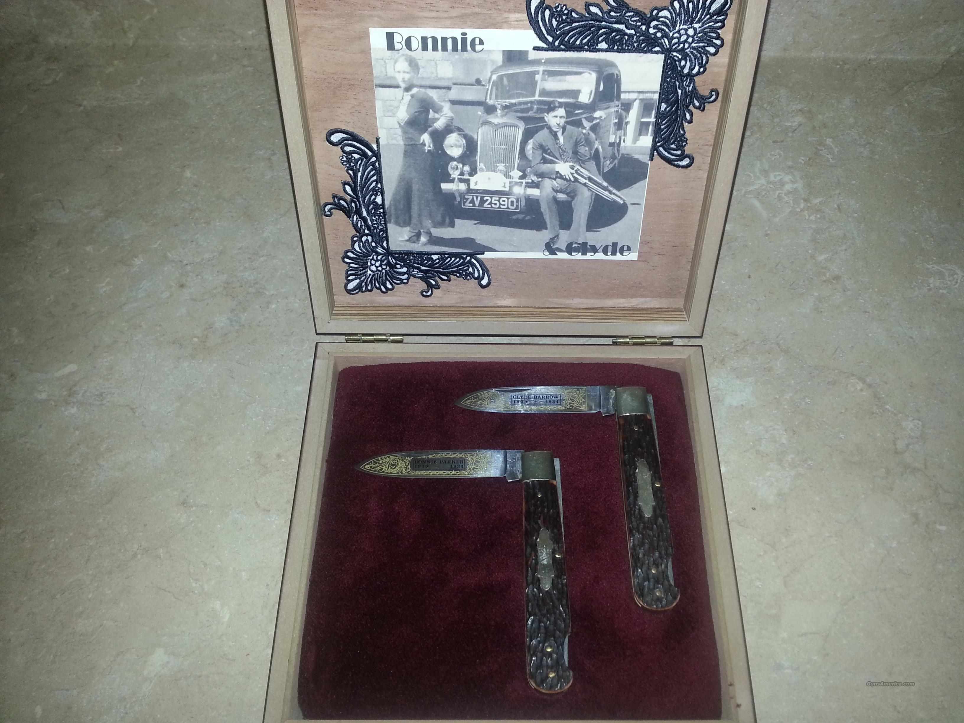 Bonnie And Clyde Commemorative Knives For Sale