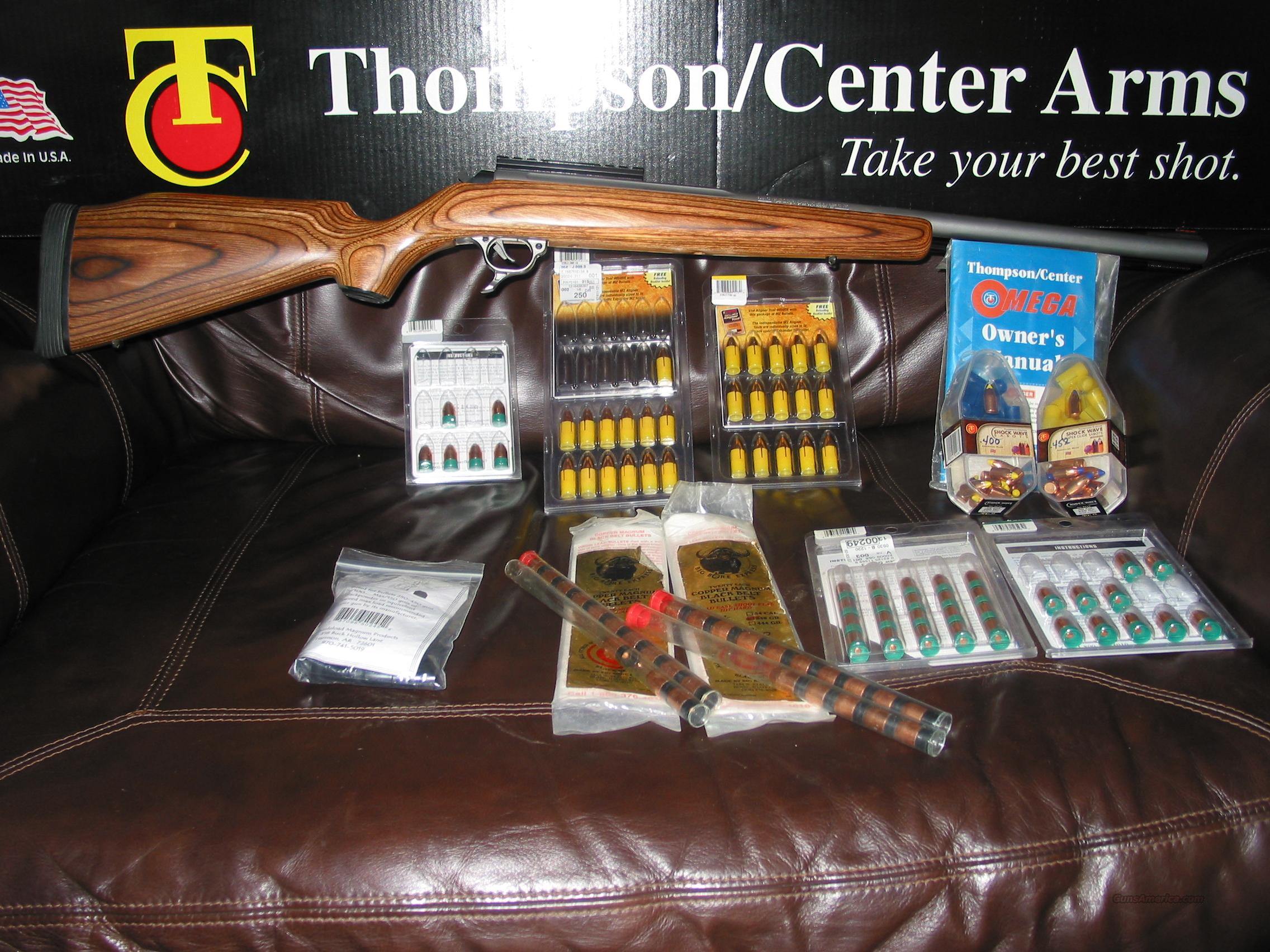 Thompson Center Omega Laminated Stainless  Guns > Rifles > Muzzleloading Modern & Replica Rifles (perc) > Modern Inline