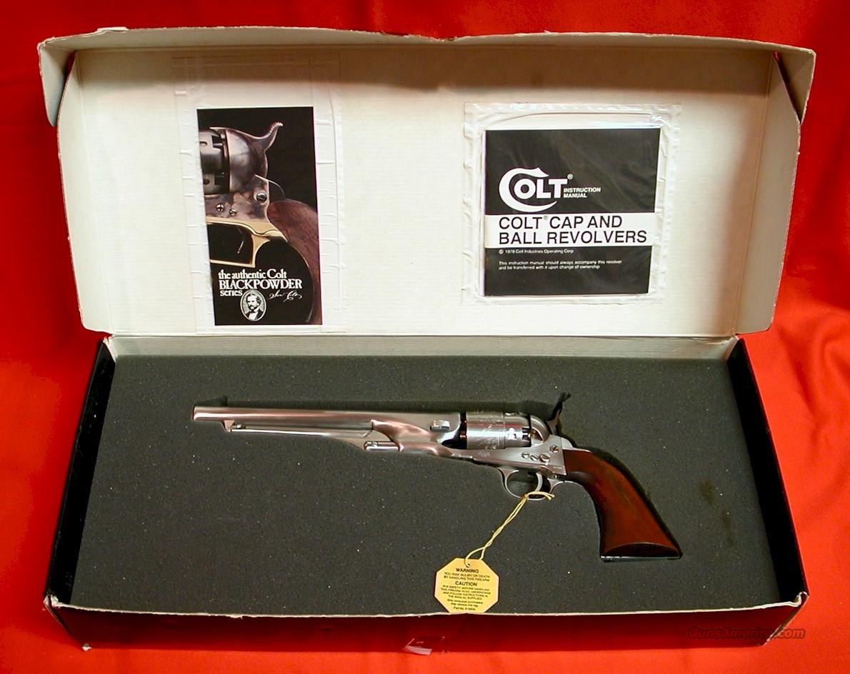 COLT 1860 ARMY STAINLESS (SCARCE)  Guns > Pistols > Colt Percussion Revolver - Modern