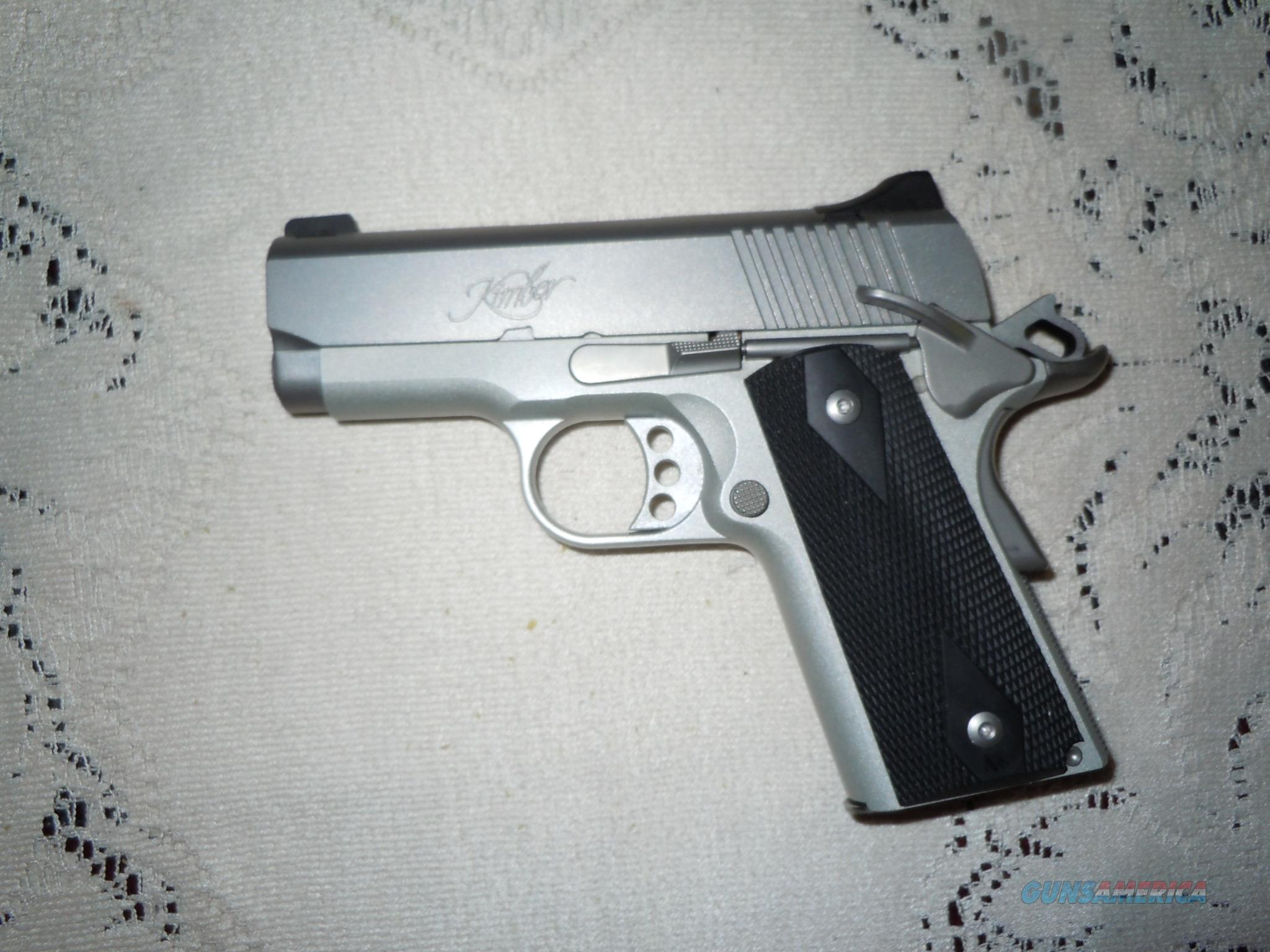 "KIMBER  45ACP stainless ULTRA CARRY II  45 caliber 1911 Test fired- 3""  Guns > Pistols > Kimber of America Pistols > 1911"