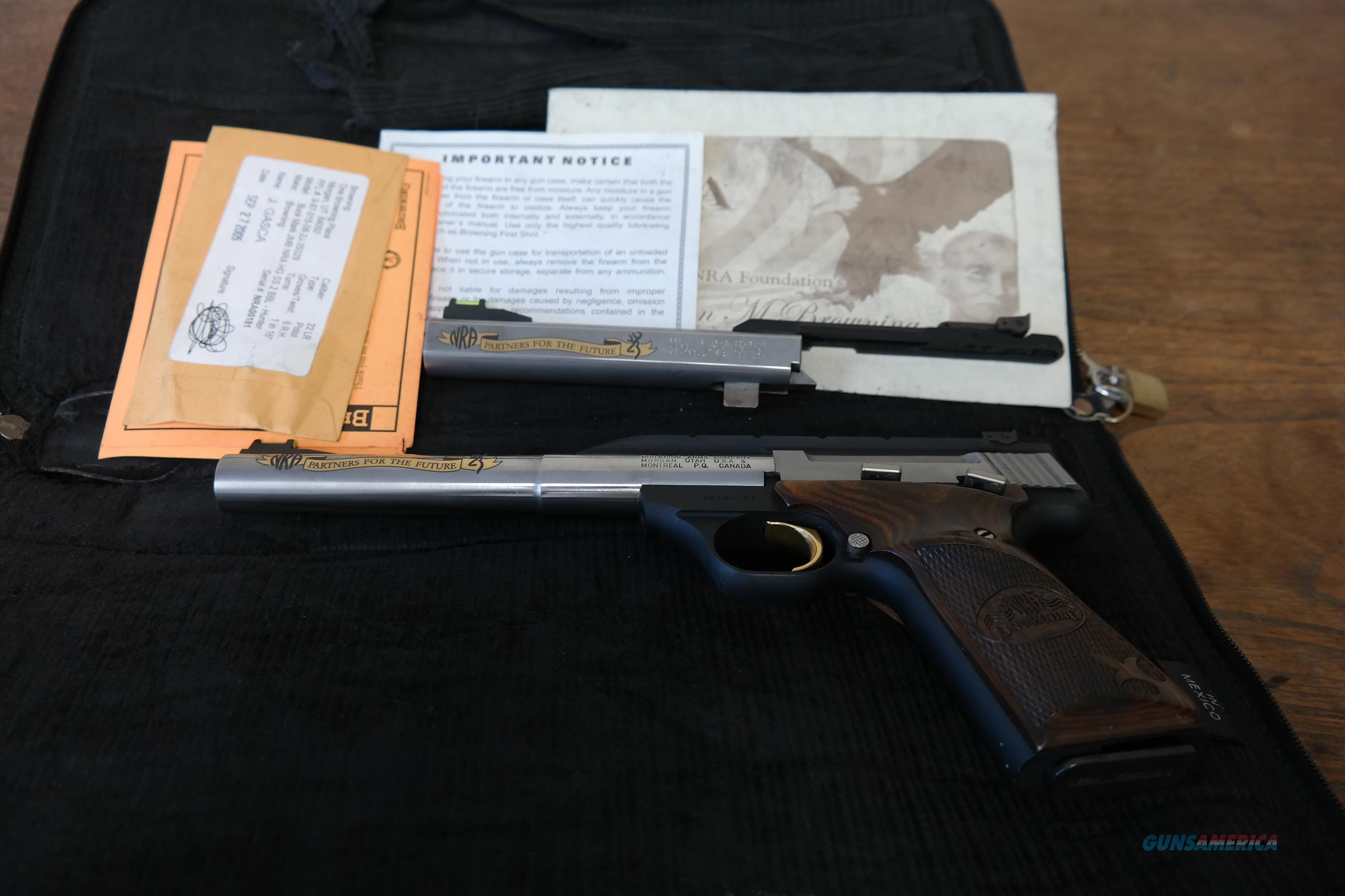 Browning Buckmark NRA Edition  Guns > Pistols > Browning Pistols > Buckmark