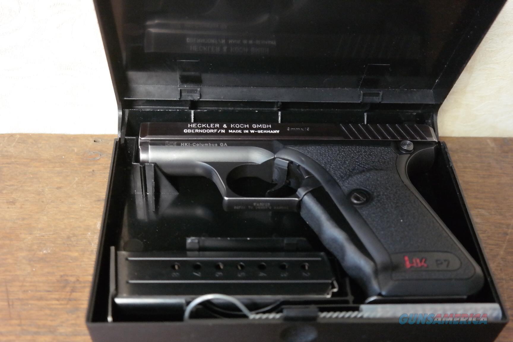 Heckler & Kock HK P7 West Germany 9mm (mfg 1984)  Guns > Pistols > Heckler & Koch Pistols > SteelFrame