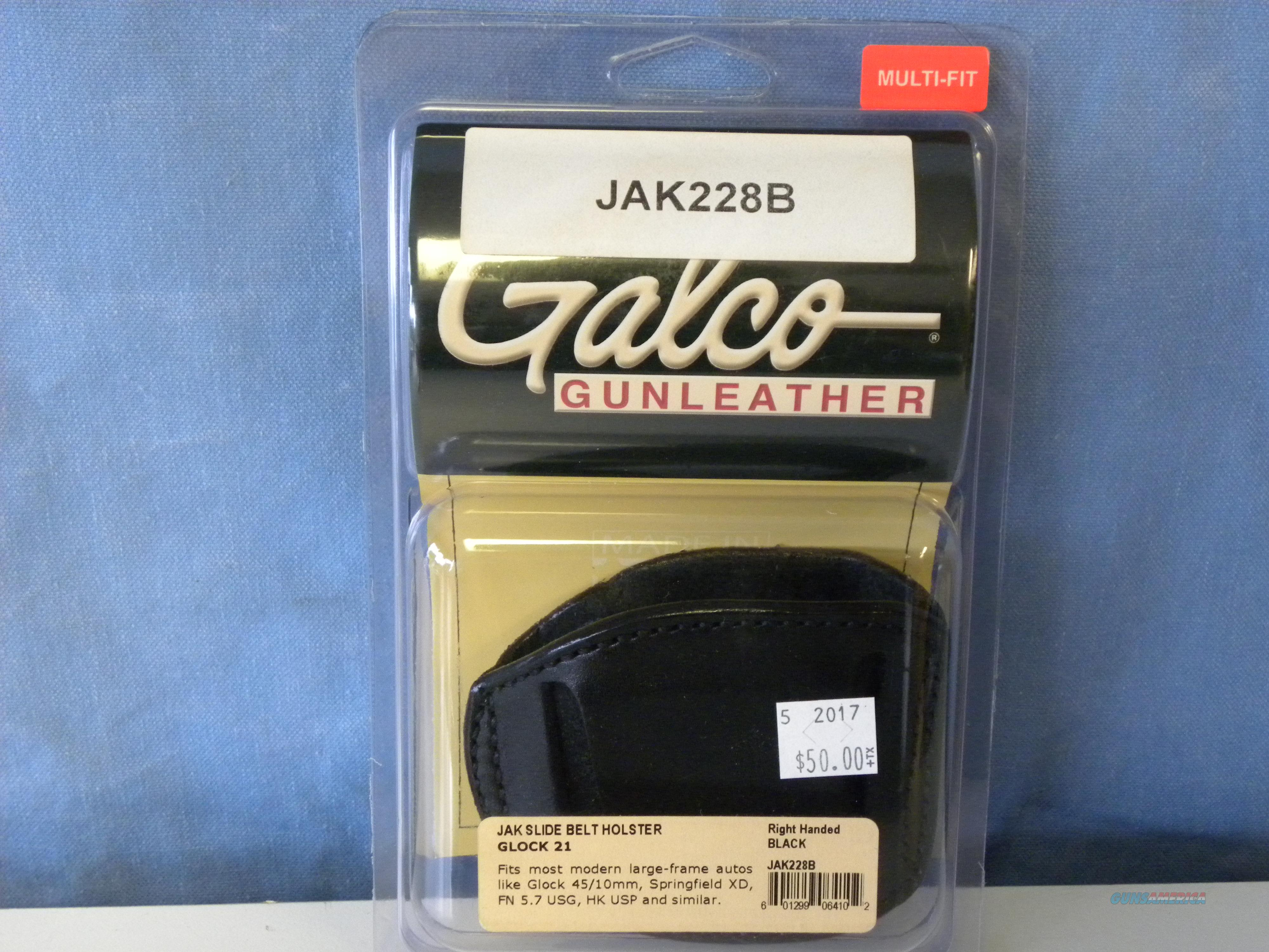 Galco Jak Slide Belt Holster  Non-Guns > Holsters and Gunleather > Large Frame Auto