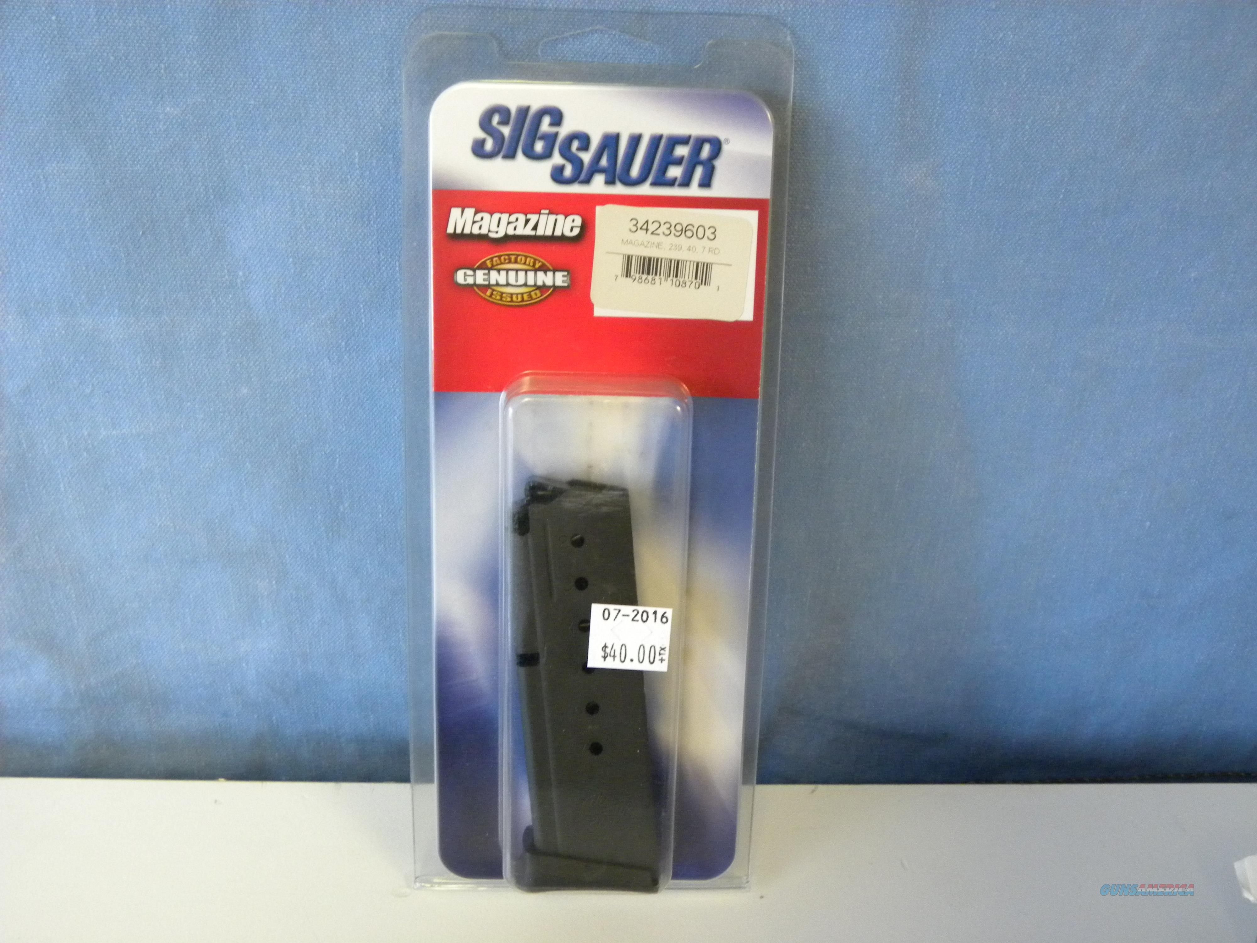 Sig Sauer 239 .40 / .357 Magazine 7 Rd  Non-Guns > Magazines & Clips > Pistol Magazines > Sig