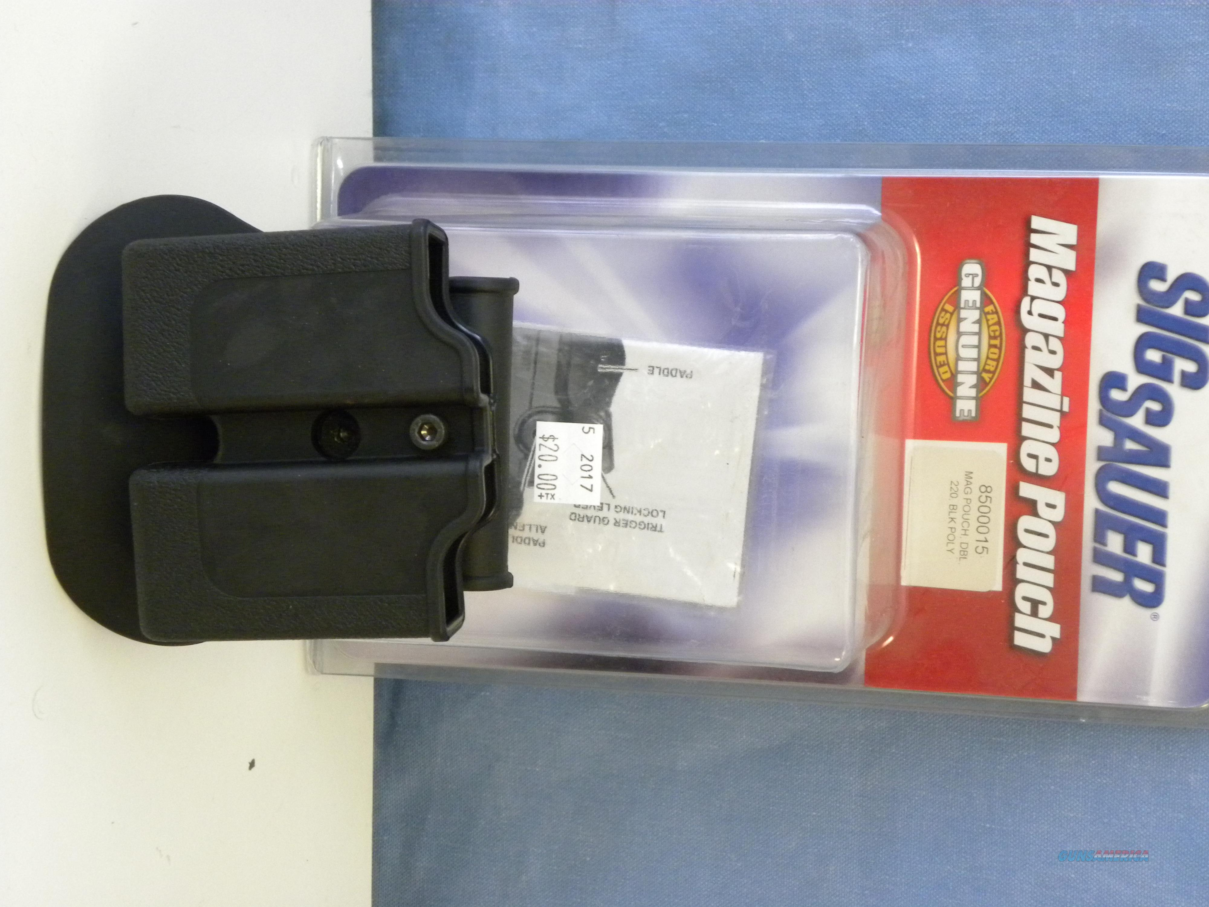Sig Sauer 220 Double Magazine Pouch  Non-Guns > Holsters and Gunleather > Magazine Holders
