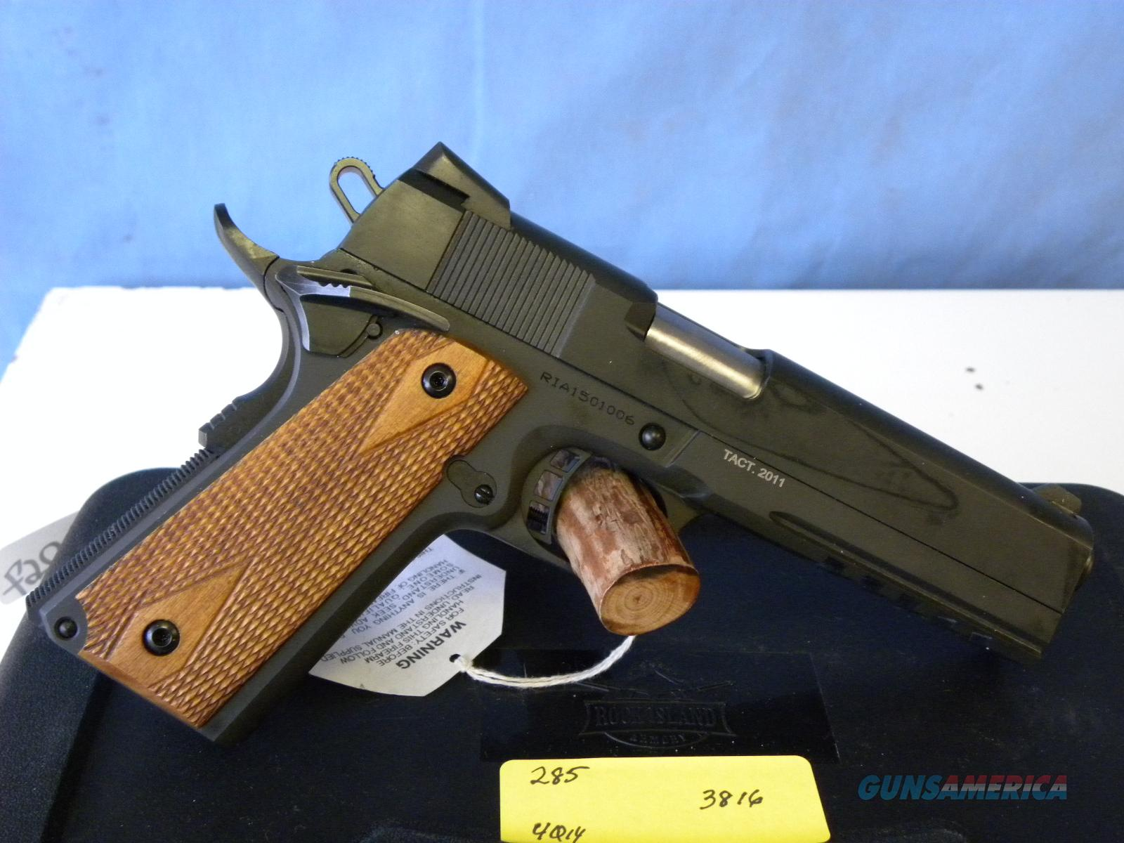 Rock Island 1911 A1 FS Tactical Rail  Guns > Pistols > Armscor Pistols > Rock Island