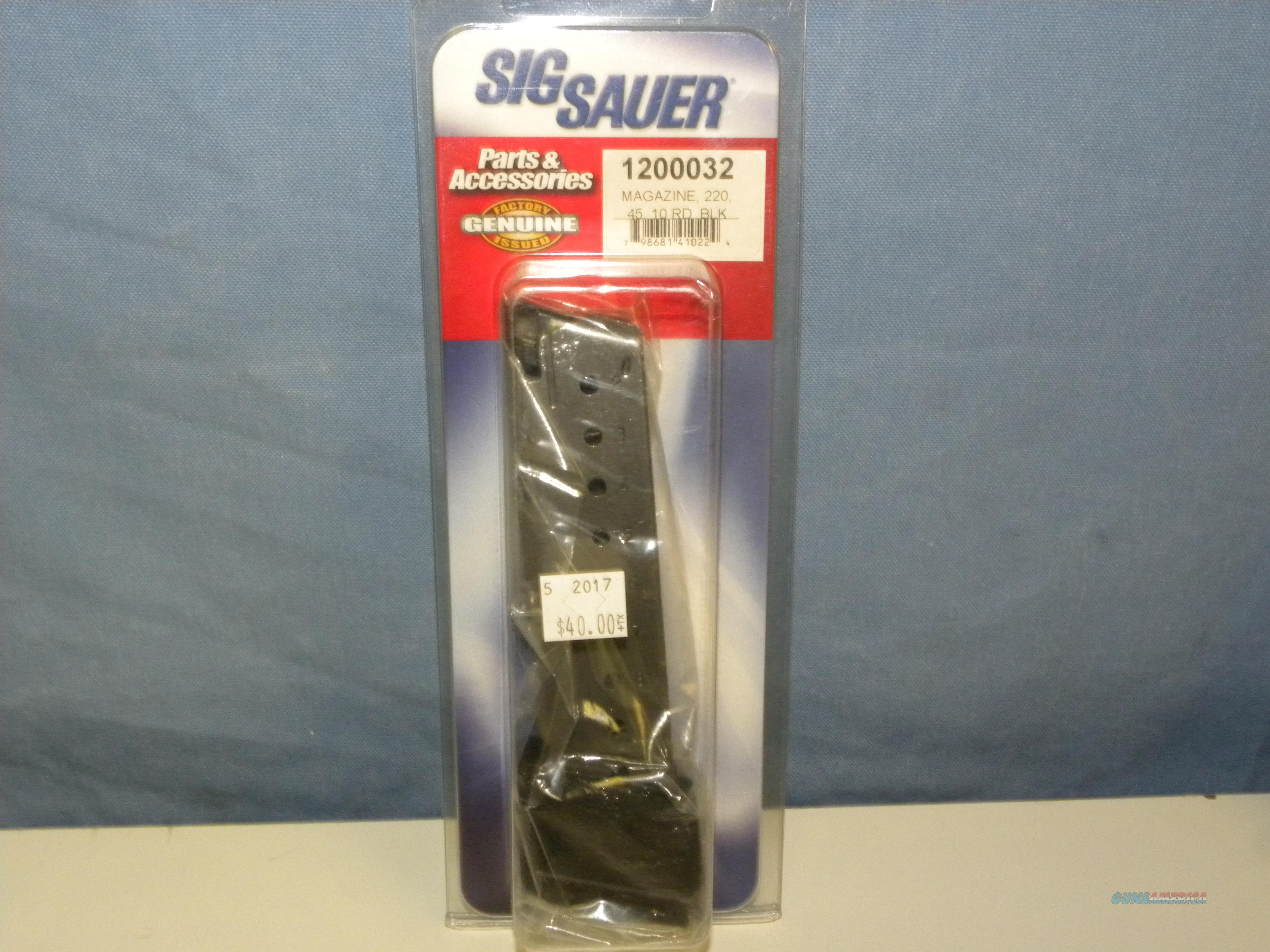 Sig Sauer 220 .45 ACP Magazine 10 RD  Non-Guns > Magazines & Clips > Pistol Magazines > Sig