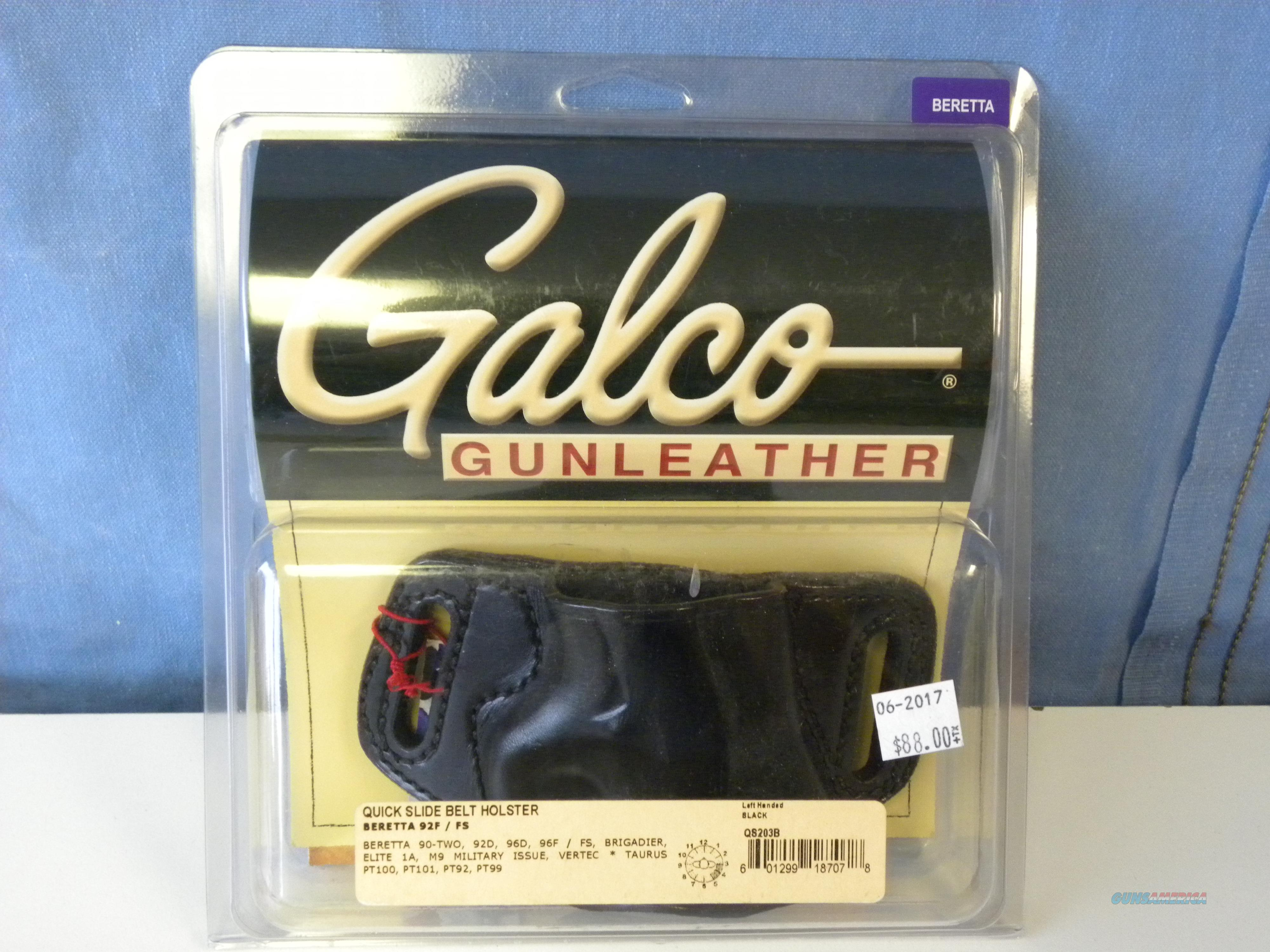 Galco Quick Slide Belt Holster  Non-Guns > Holsters and Gunleather > Large Frame Auto