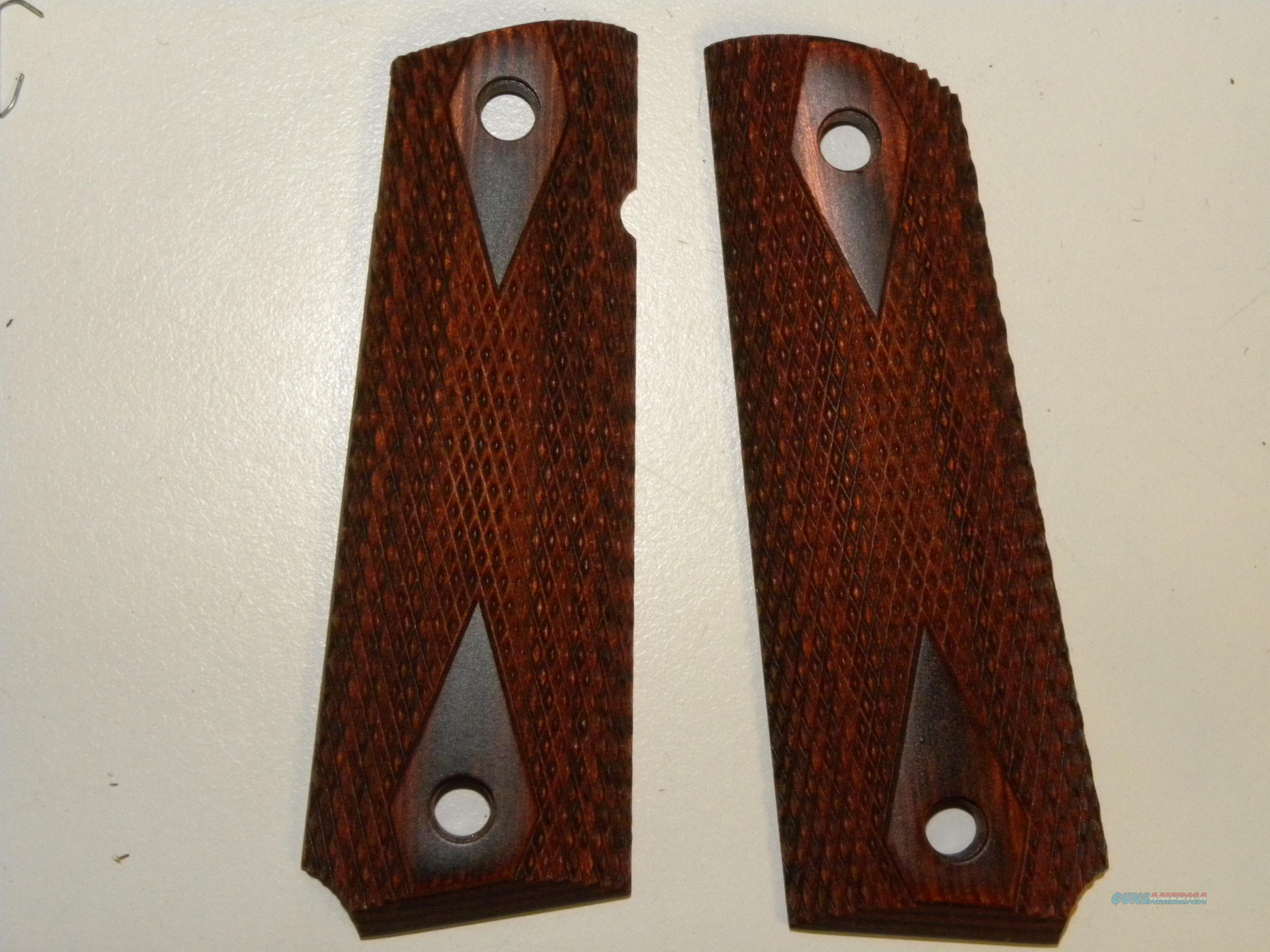 1911 Rosewood Grips   Non-Guns > Gunstocks, Grips & Wood