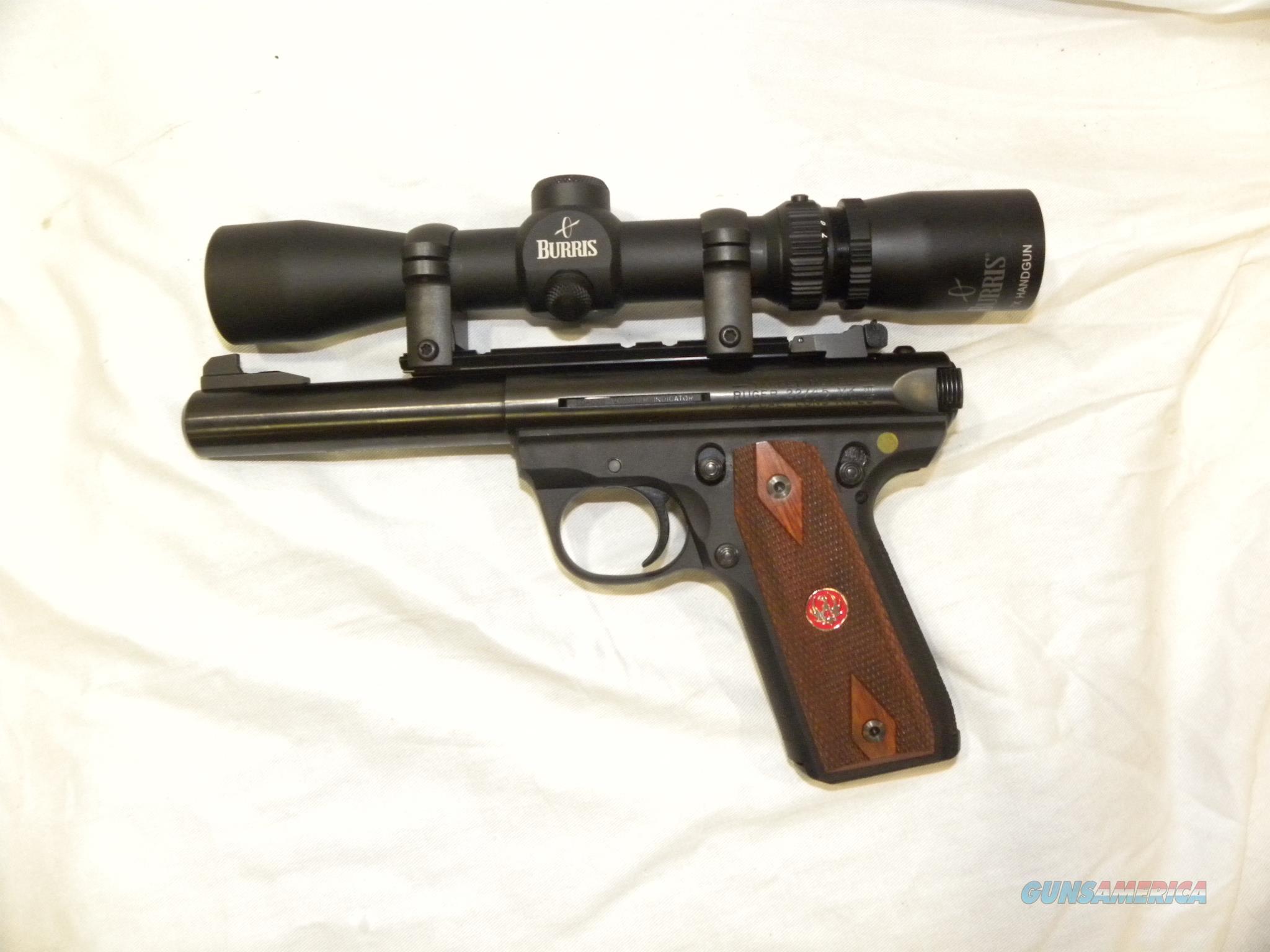 Ruger 22/45 MK III Target w/ Burris Pistol Scope  Guns > Pistols > Ruger Semi-Auto Pistols > 22/45