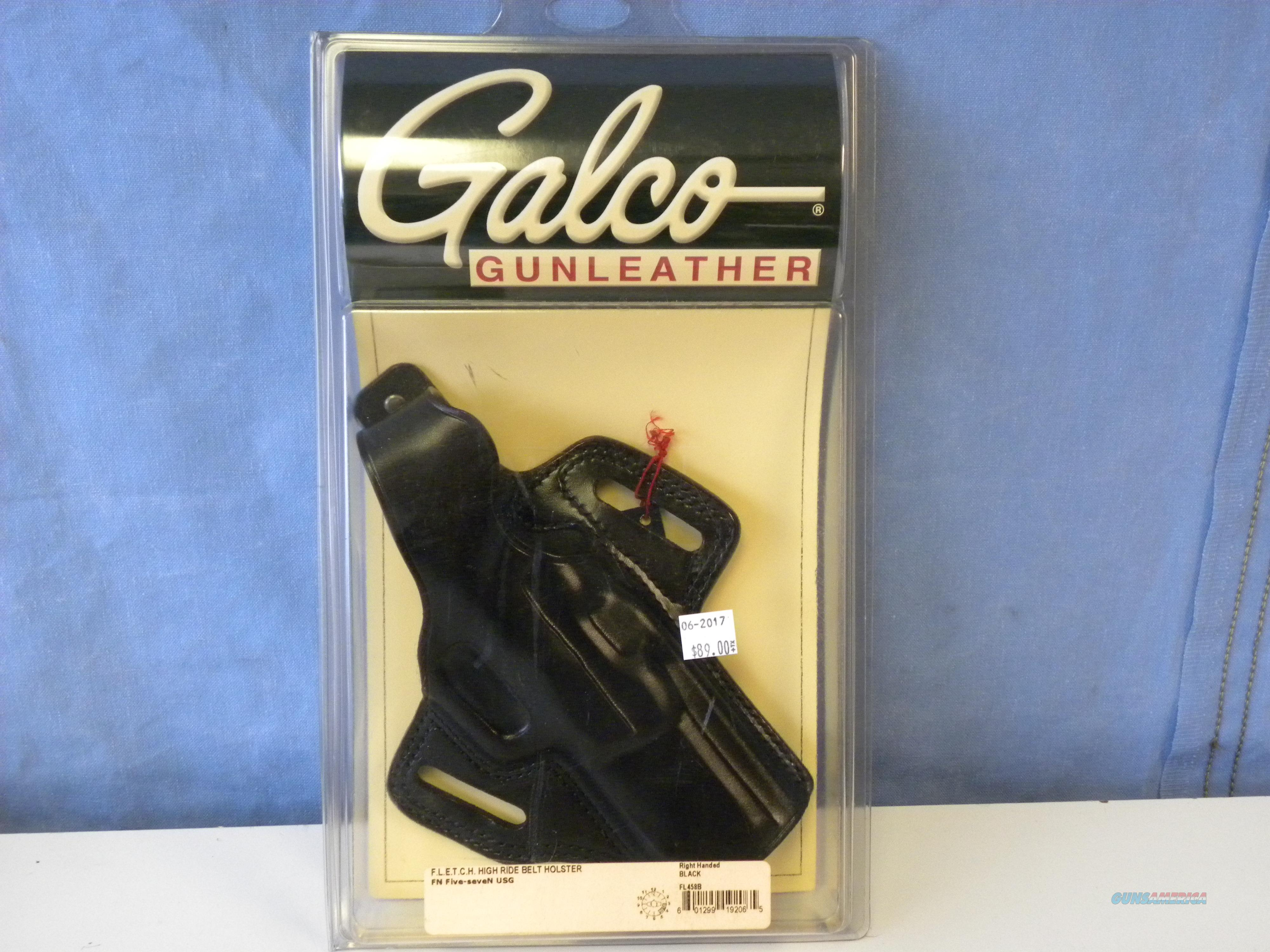 Galco FLETCH High Ride Belt Holster (FL458B)  Non-Guns > Holsters and Gunleather > Large Frame Auto