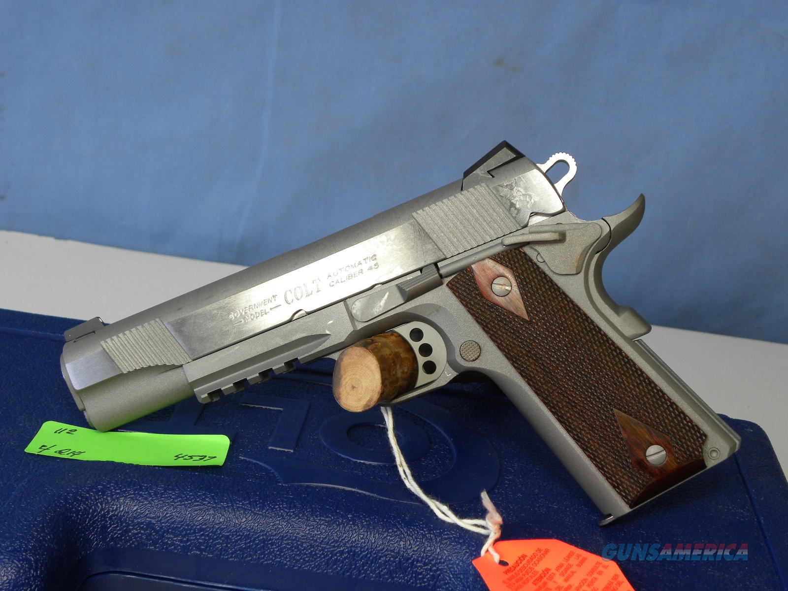 Colt 1911 Rail Gun SS 01070RG  Guns > Pistols > Colt Automatic Pistols (1911 & Var)