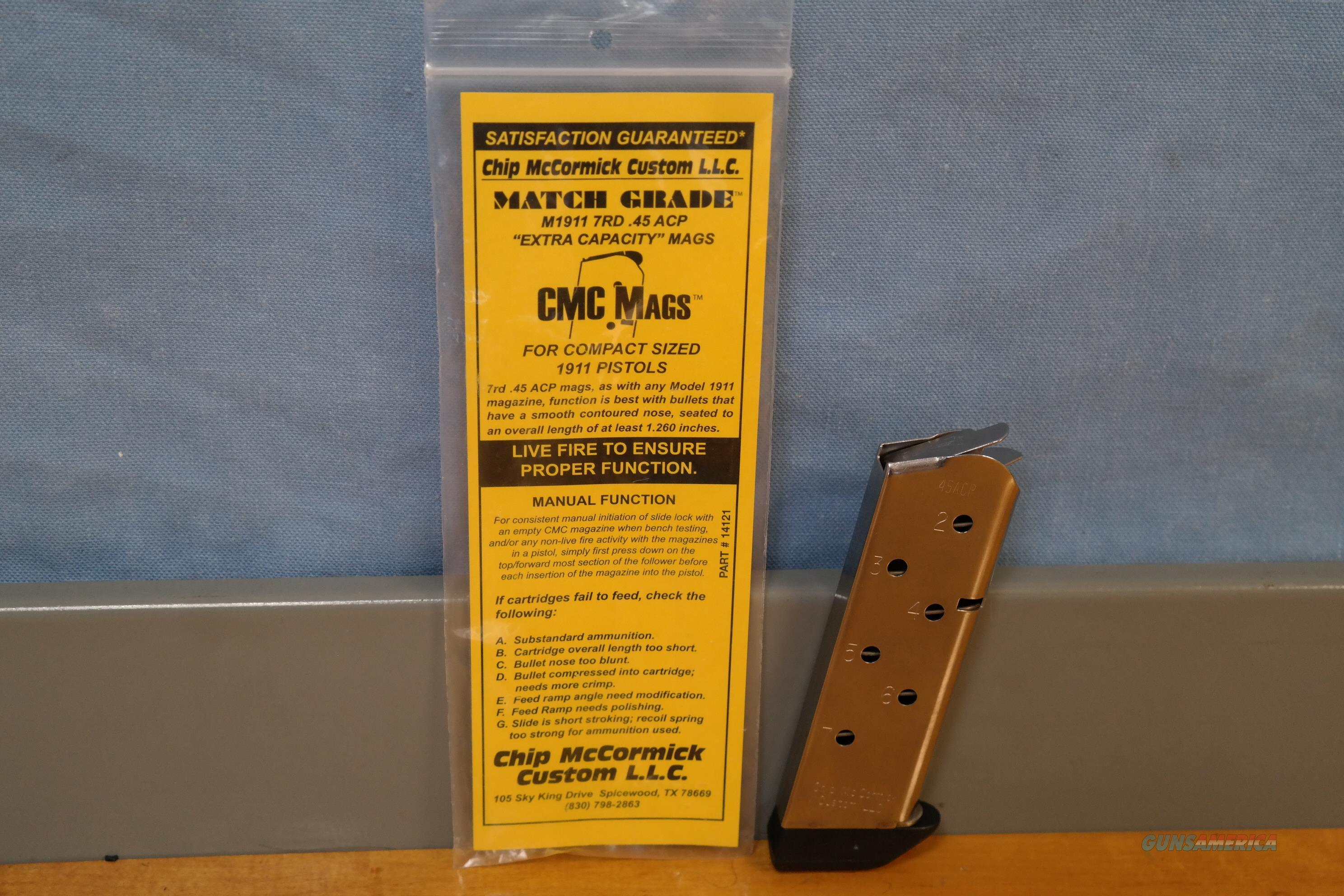 Chip McCormick Compact 1911 Magazine  Non-Guns > Magazines & Clips > Pistol Magazines > 1911