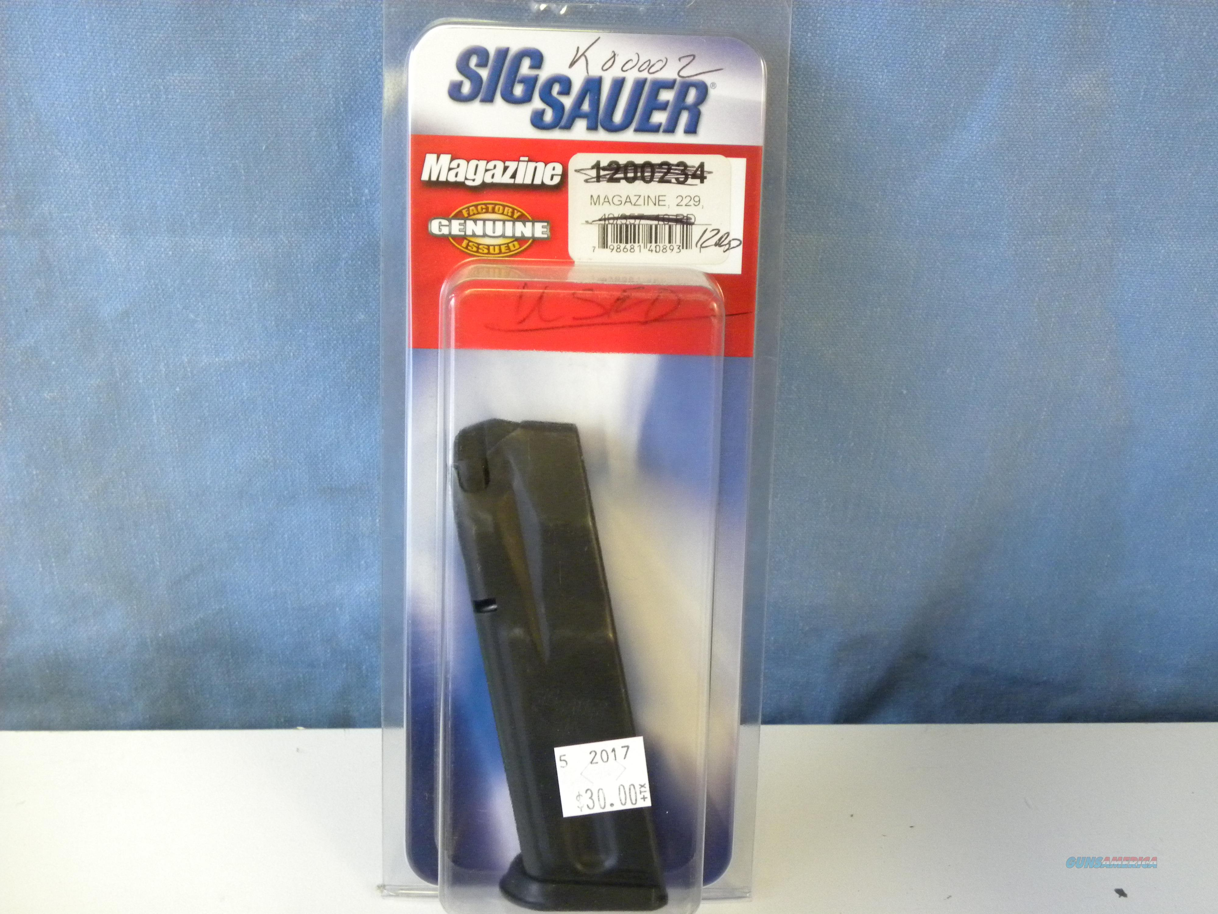 Sig Sauer 229 .40/.357 Magazine 12 RD Used  Non-Guns > Magazines & Clips > Pistol Magazines > Sig