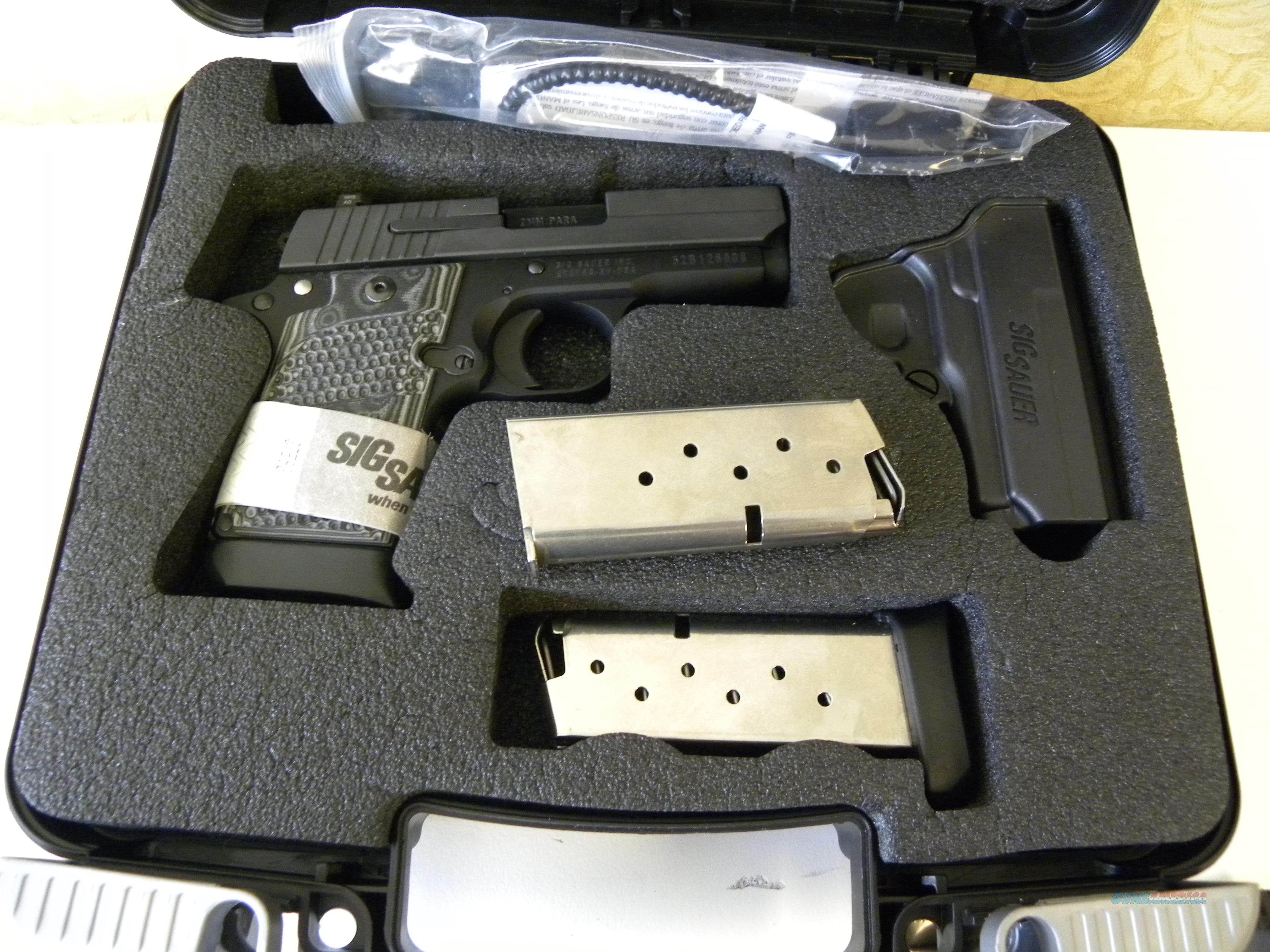 Sig Sauer 938-9-XTM-BLKGRY w/ Extras  Guns > Pistols > Sig - Sauer/Sigarms Pistols > P938