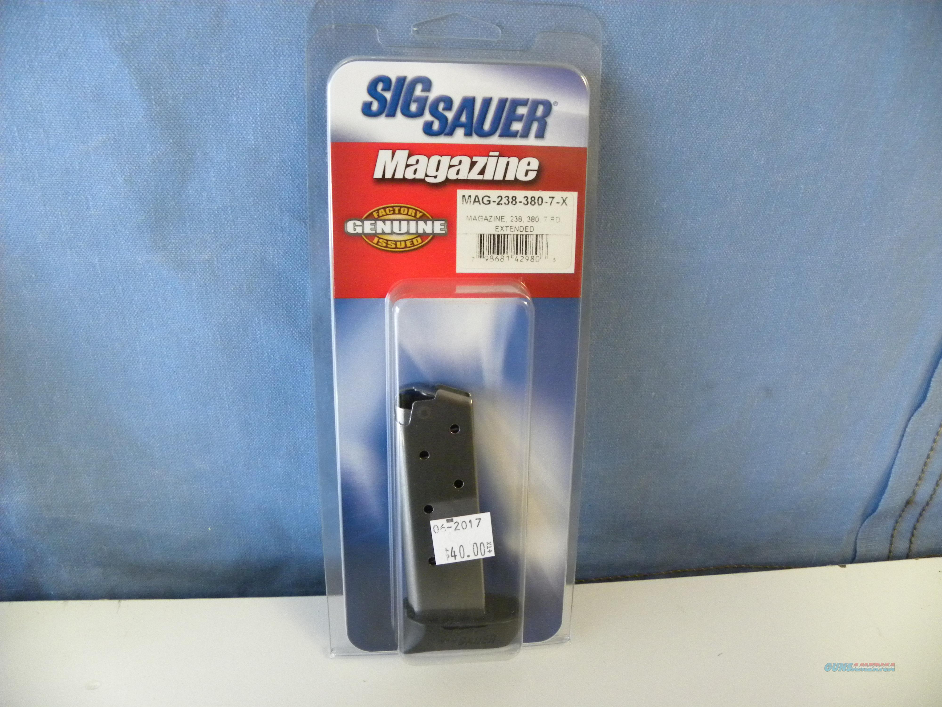 SIg Sauer 238 .380 Magazine 7 RD w/ Extension  Non-Guns > Magazines & Clips > Pistol Magazines > Sig