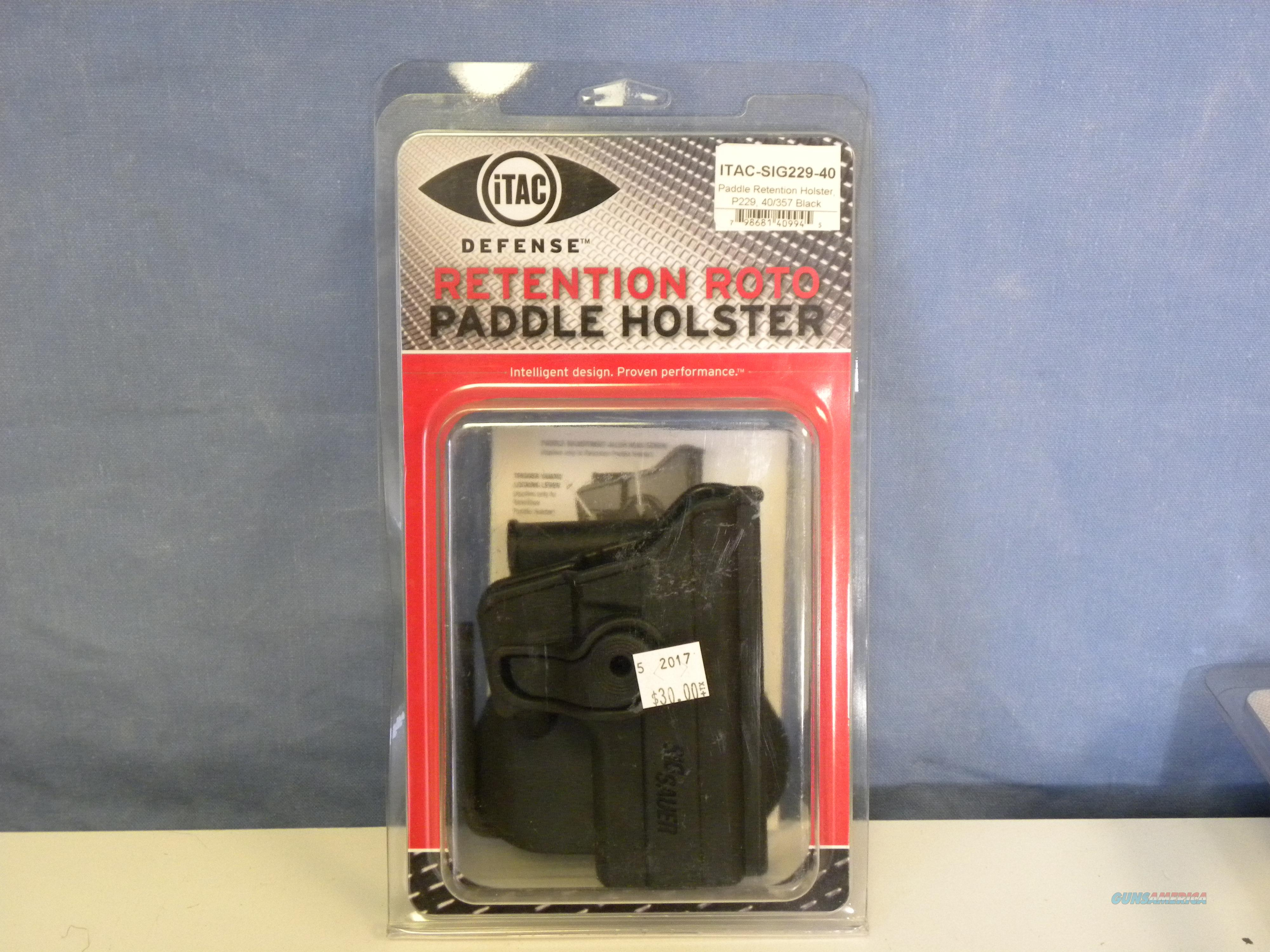 iTAC Sig Sauer 229 .40 Retention Roto Paddle Holster  Non-Guns > Holsters and Gunleather > Large Frame Auto