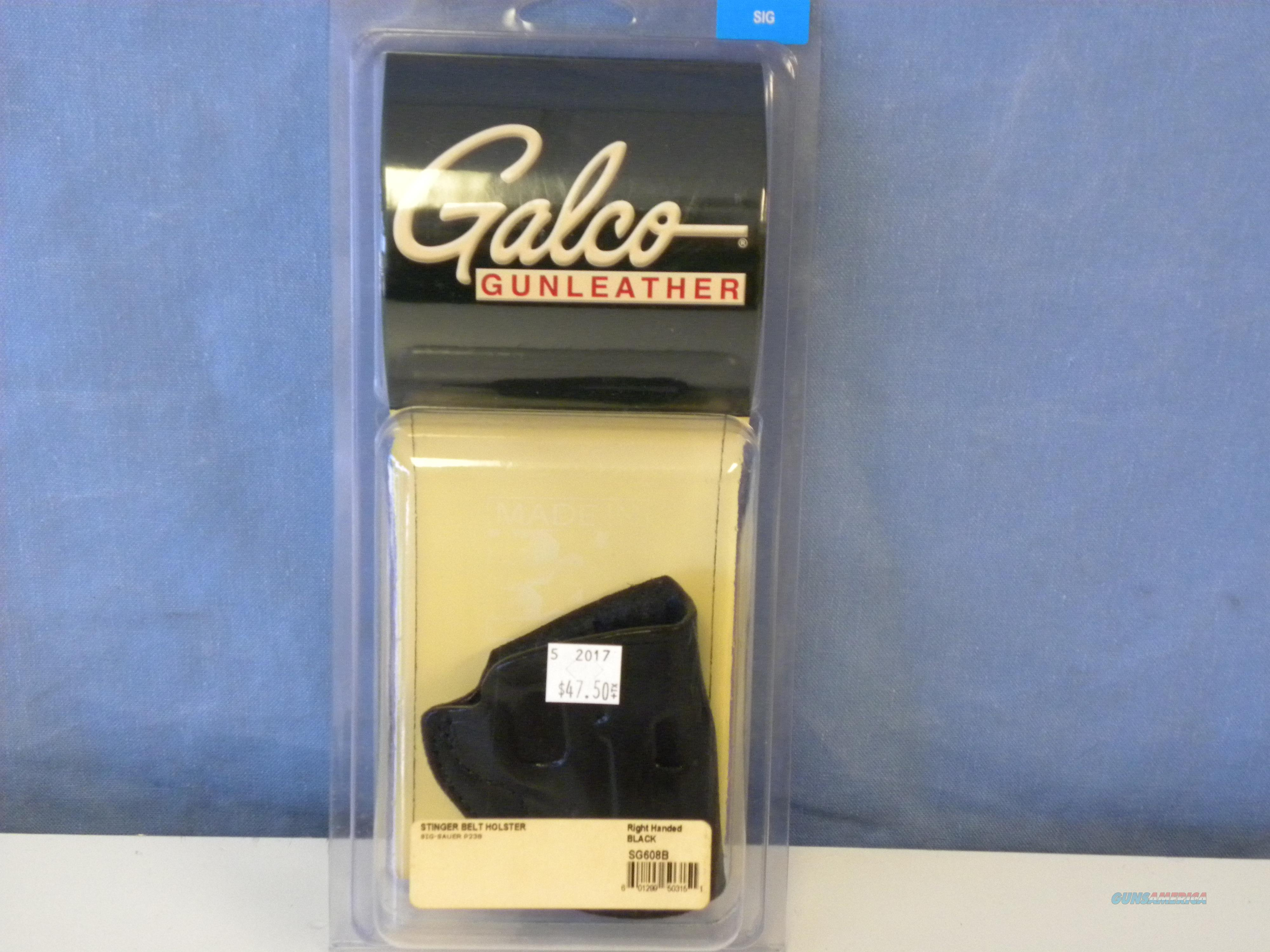 Galco Sig 238 Stinger Belt Holster (SG608B)  Non-Guns > Holsters and Gunleather > Large Frame Auto
