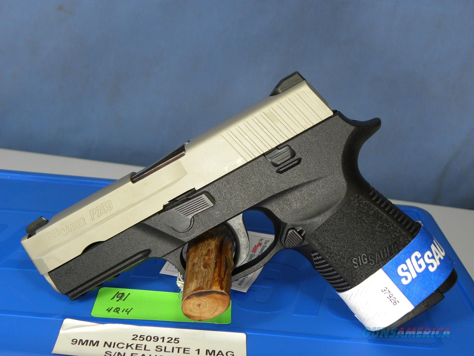 Sig Sauer 250 9mm Compact Nickel  Guns > Pistols > Sig - Sauer/Sigarms Pistols > P250