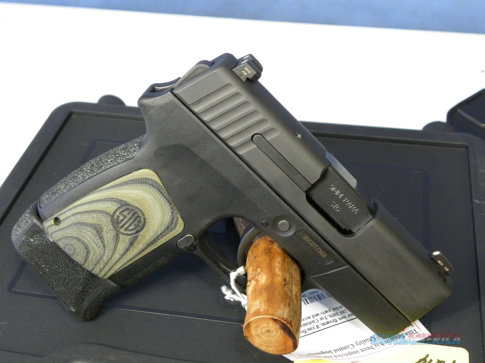 Sig Sauer 290RS-9 Enhanced Black/Green  Guns > Pistols > Sig - Sauer/Sigarms Pistols > P290
