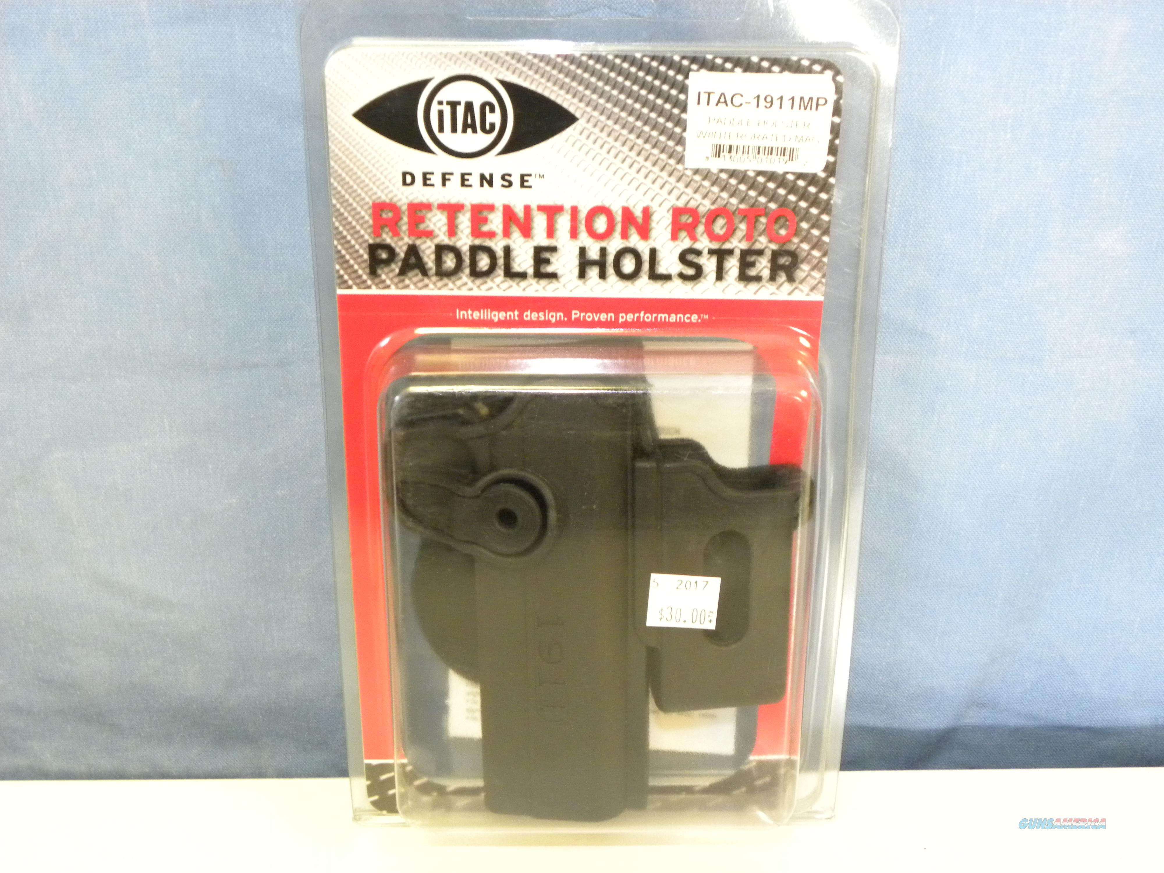 iTAC 1911 Retention Roto Paddle Holster w/ Mag Pouch  Non-Guns > Holsters and Gunleather > 1911