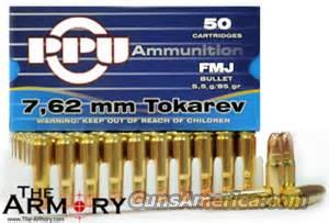 7.62mm Tokarev PPU 85gr FMJ  Non-Guns > Ammunition
